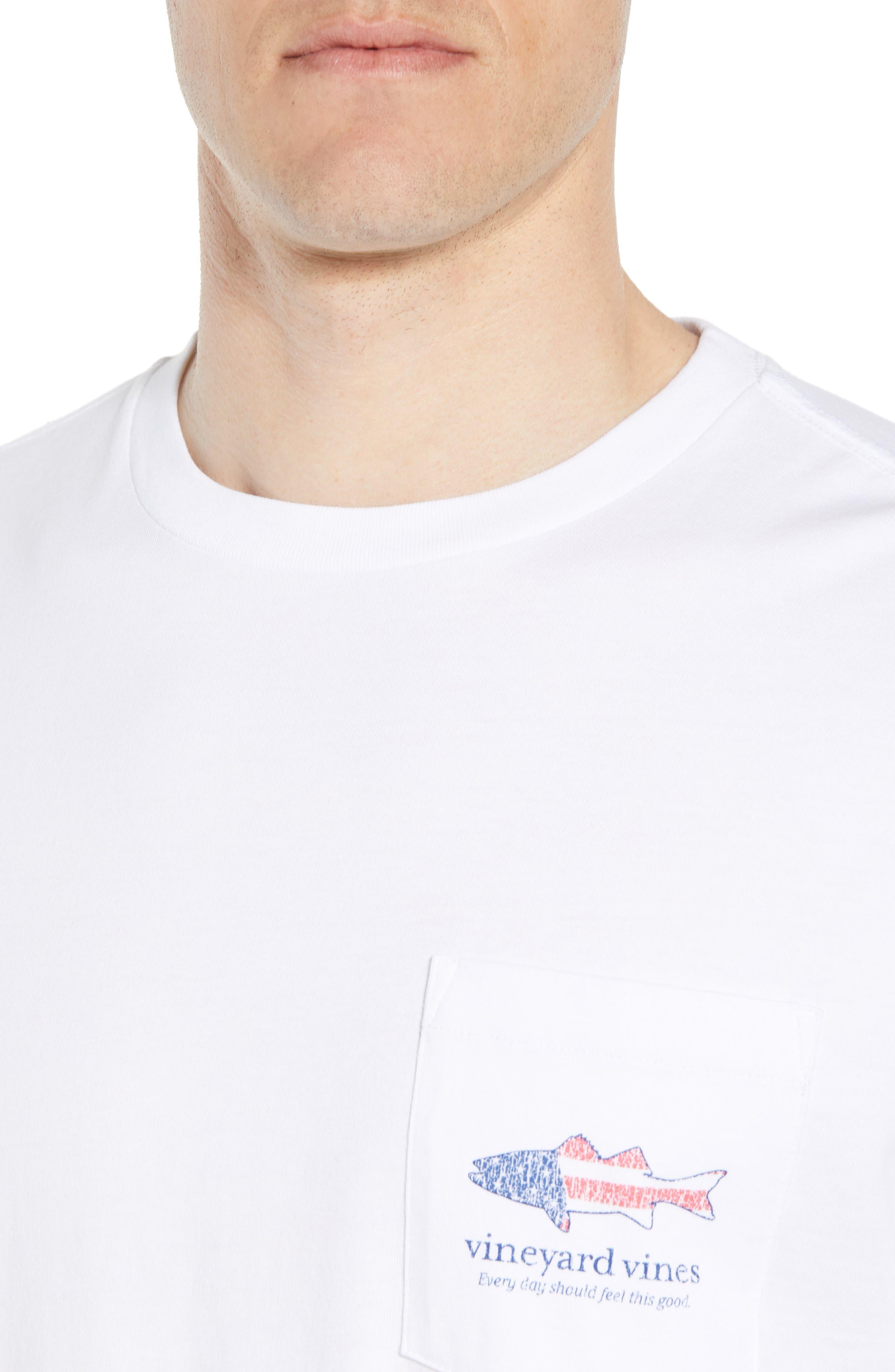 Grouper Flat Crewneck T-Shirt,                             Alternate thumbnail 4, color,                             White Cap