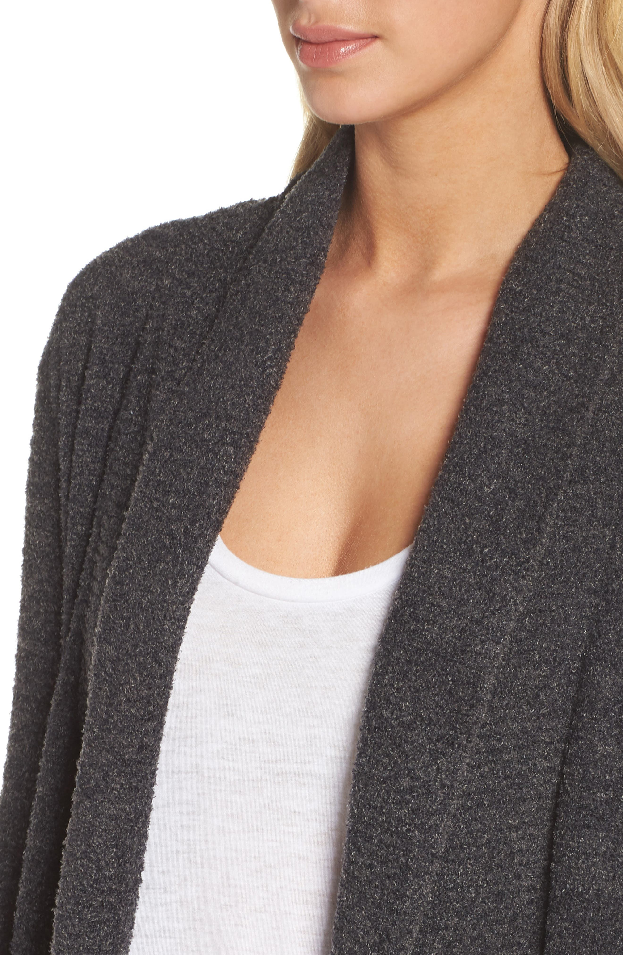 CozyChic Lite<sup>®</sup> Circle Cardigan,                             Alternate thumbnail 4, color,                             Carbon/ Black Heather
