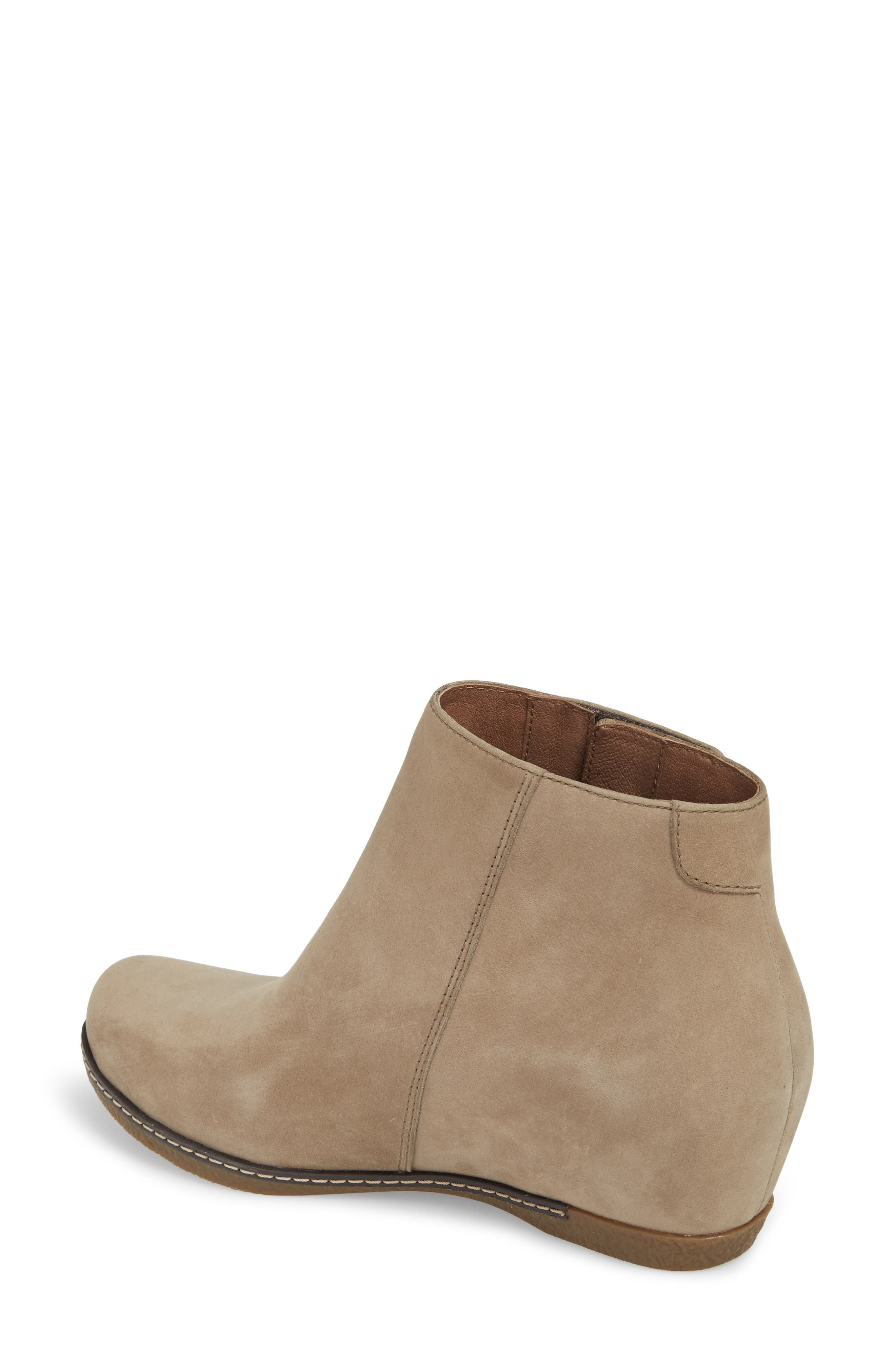Leanna Bootie,                             Alternate thumbnail 2, color,                             Taupe Burnished Nubuck