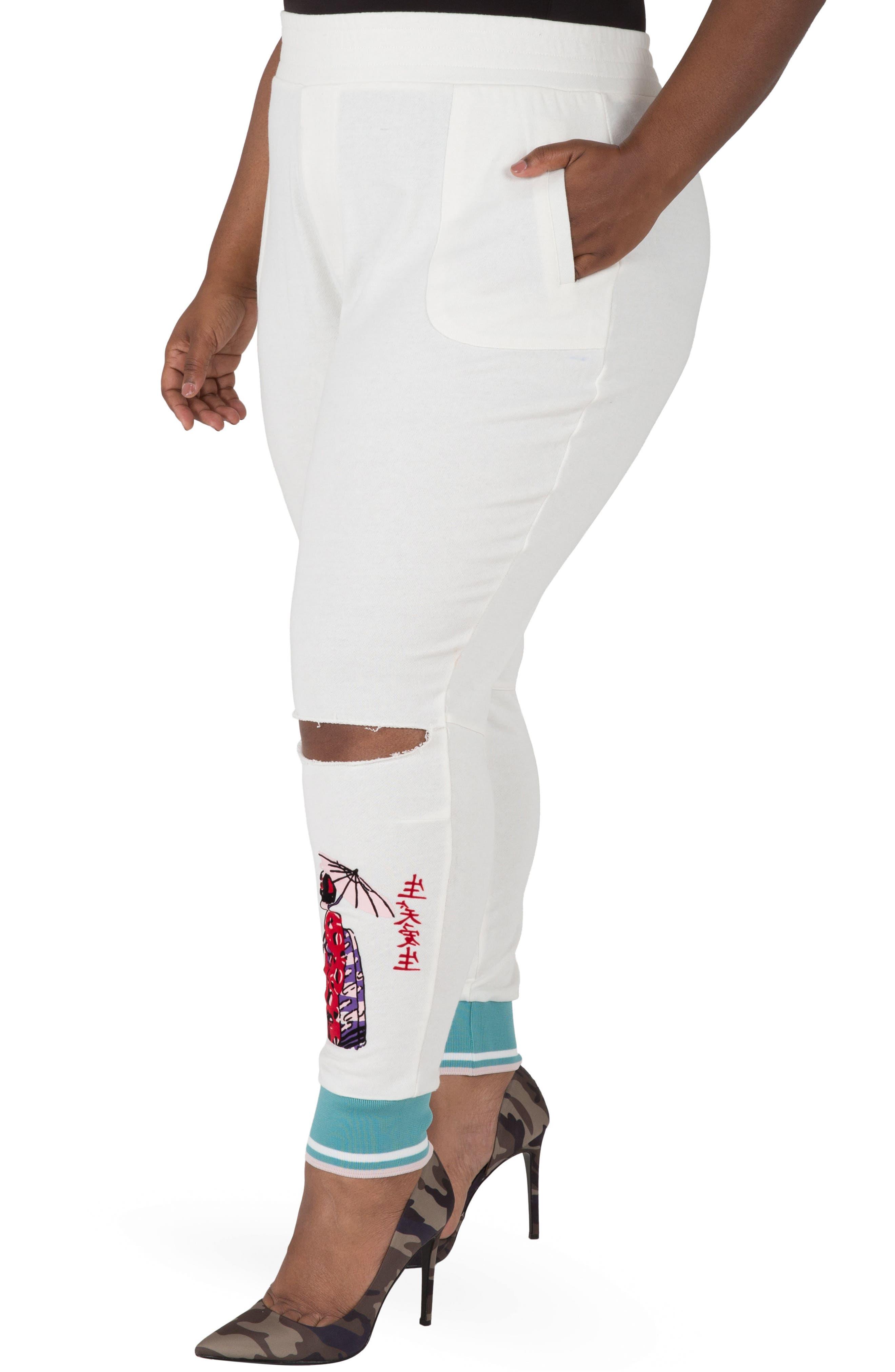 Akira Ankle Jogger Pants,                             Alternate thumbnail 3, color,                             Quartz White