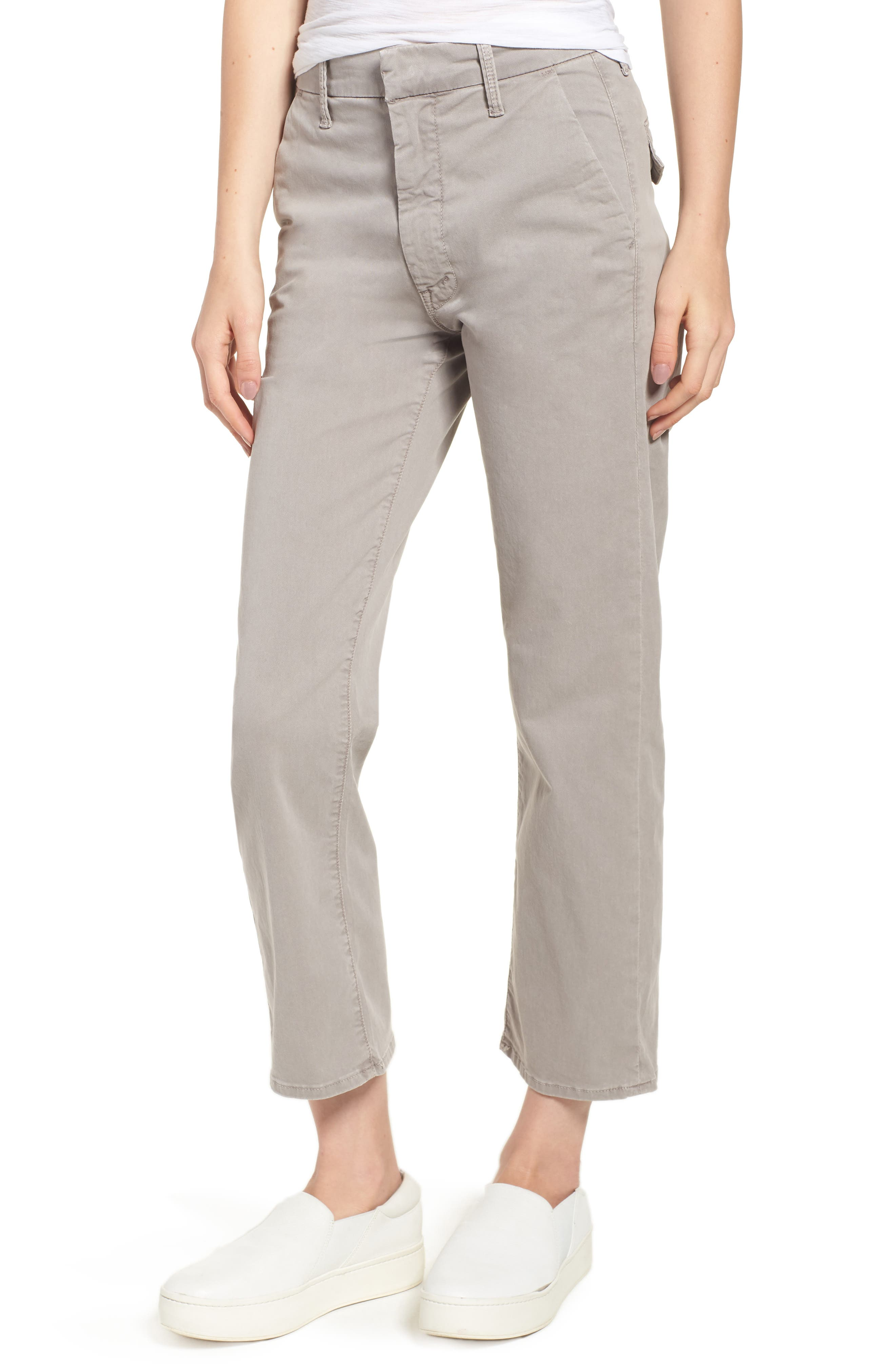 The Tomcat Prep Crop Twill Pants,                             Main thumbnail 1, color,                             Cement