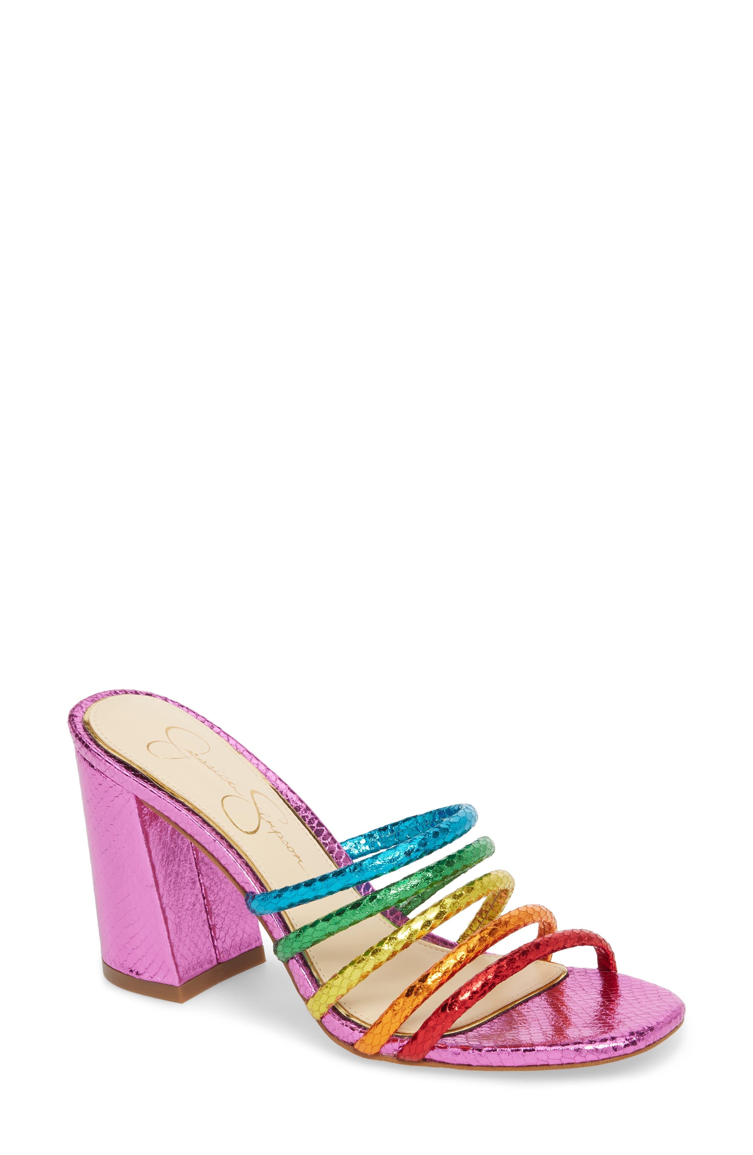 Alternate Image 1 Selected - Jessica Simpson Fixton Strappy Slide Sandal (Women)