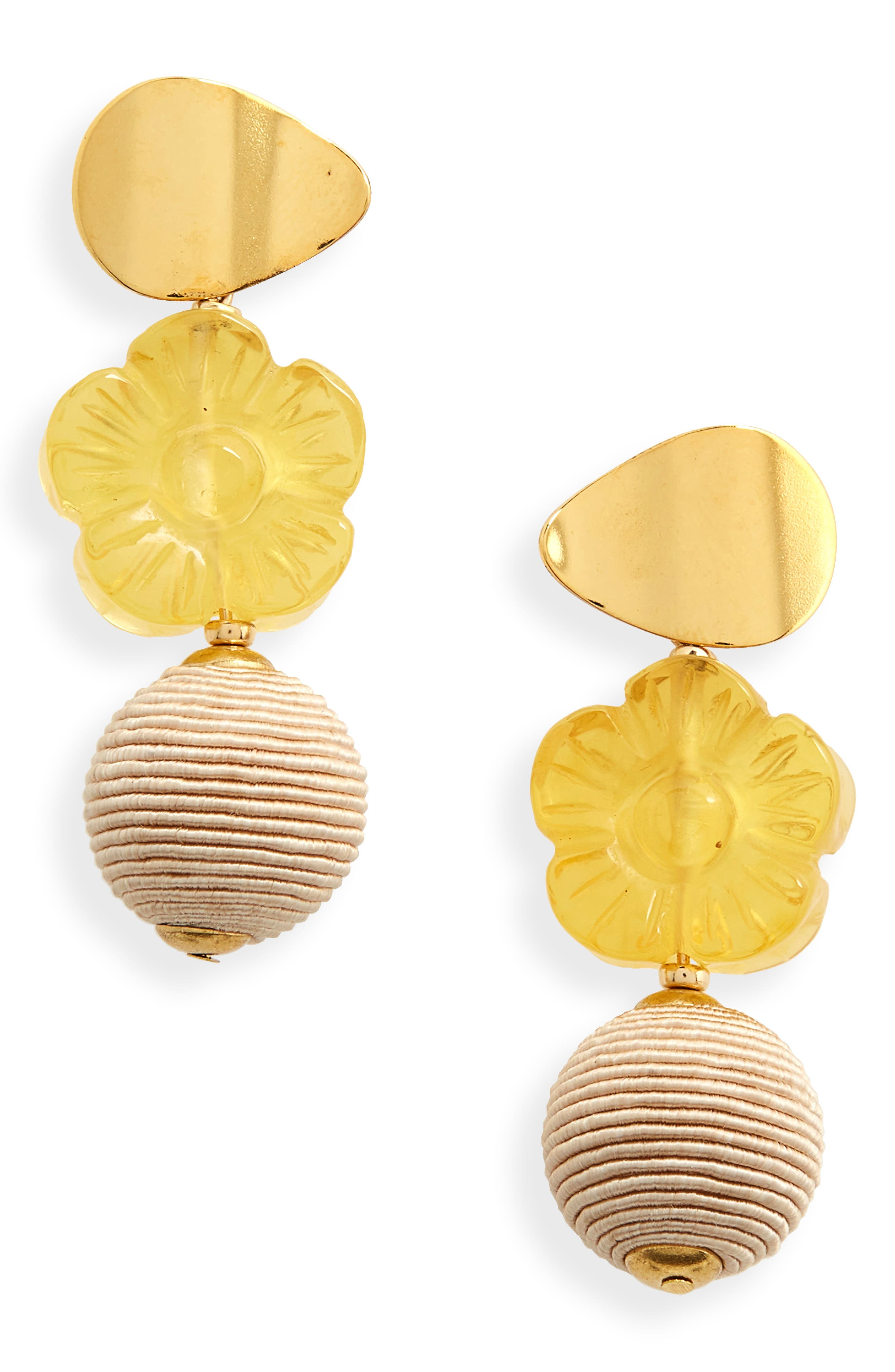 Main Image - Lizzie Fortunato Goldenrod Column Drop Earrings