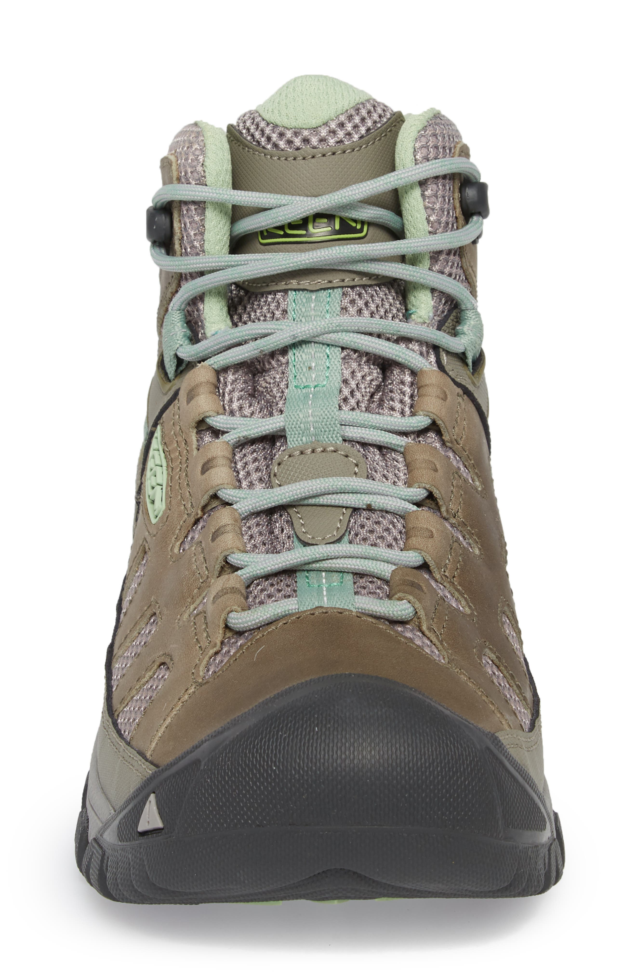 Targhee Vent Mid Hiking Shoe,                             Alternate thumbnail 4, color,                             Fumo/ Quiet Green Leather