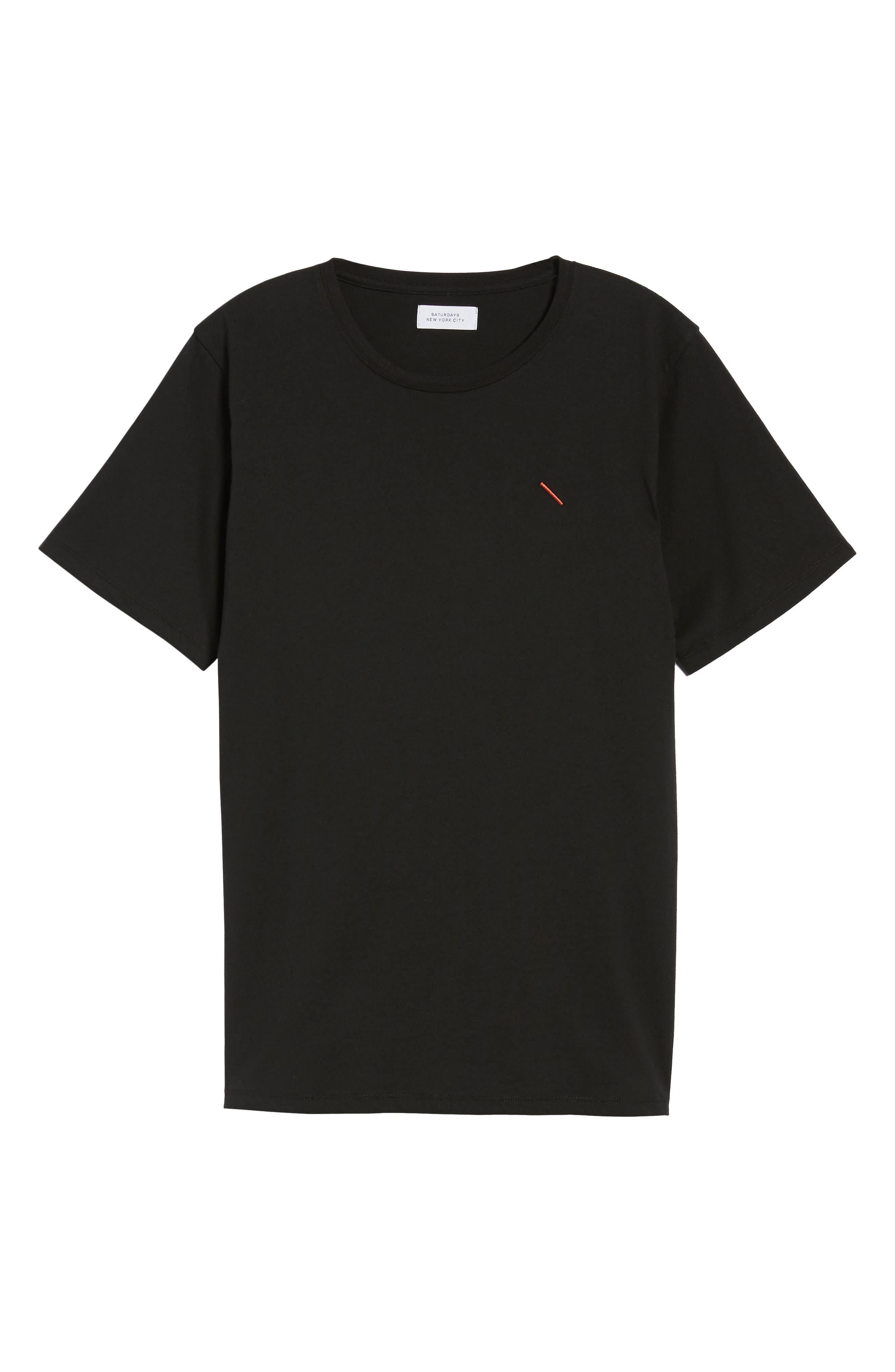 Embroidered Slash T-Shirt,                             Alternate thumbnail 6, color,                             Black
