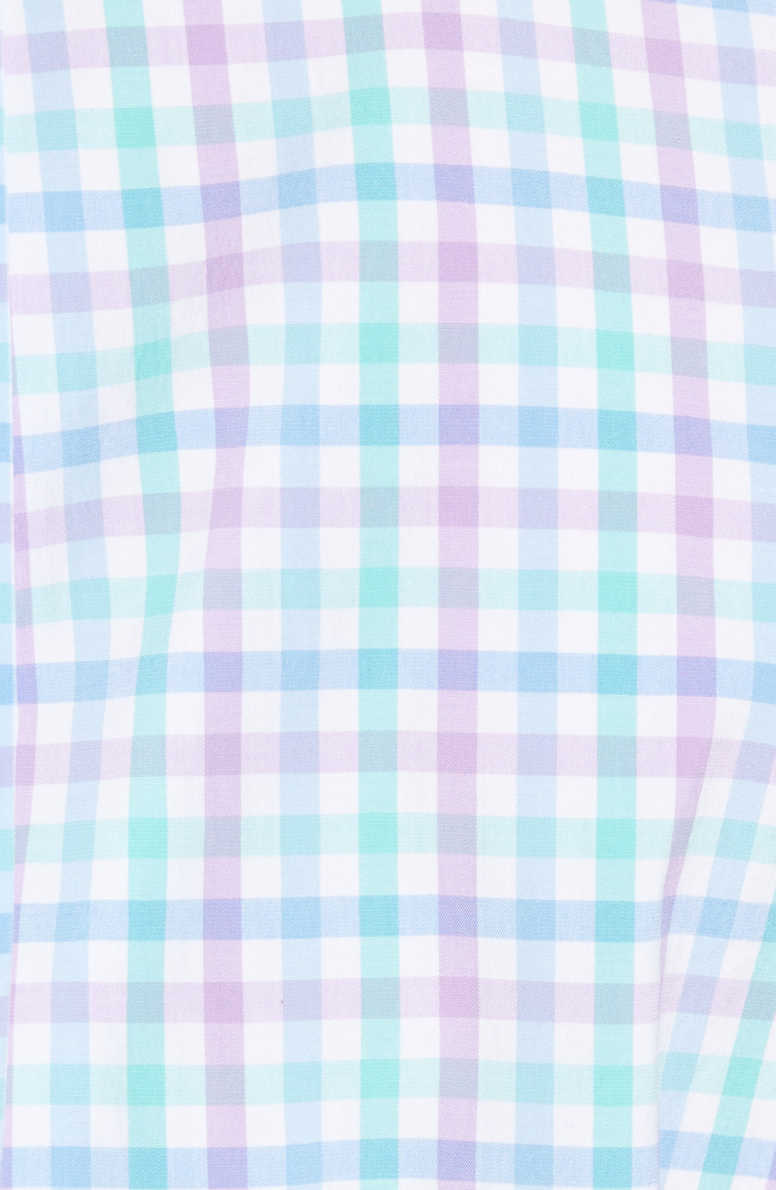 Murray Classic Fit Stretch Check Sport Shirt,                             Alternate thumbnail 5, color,                             Sea Urchin