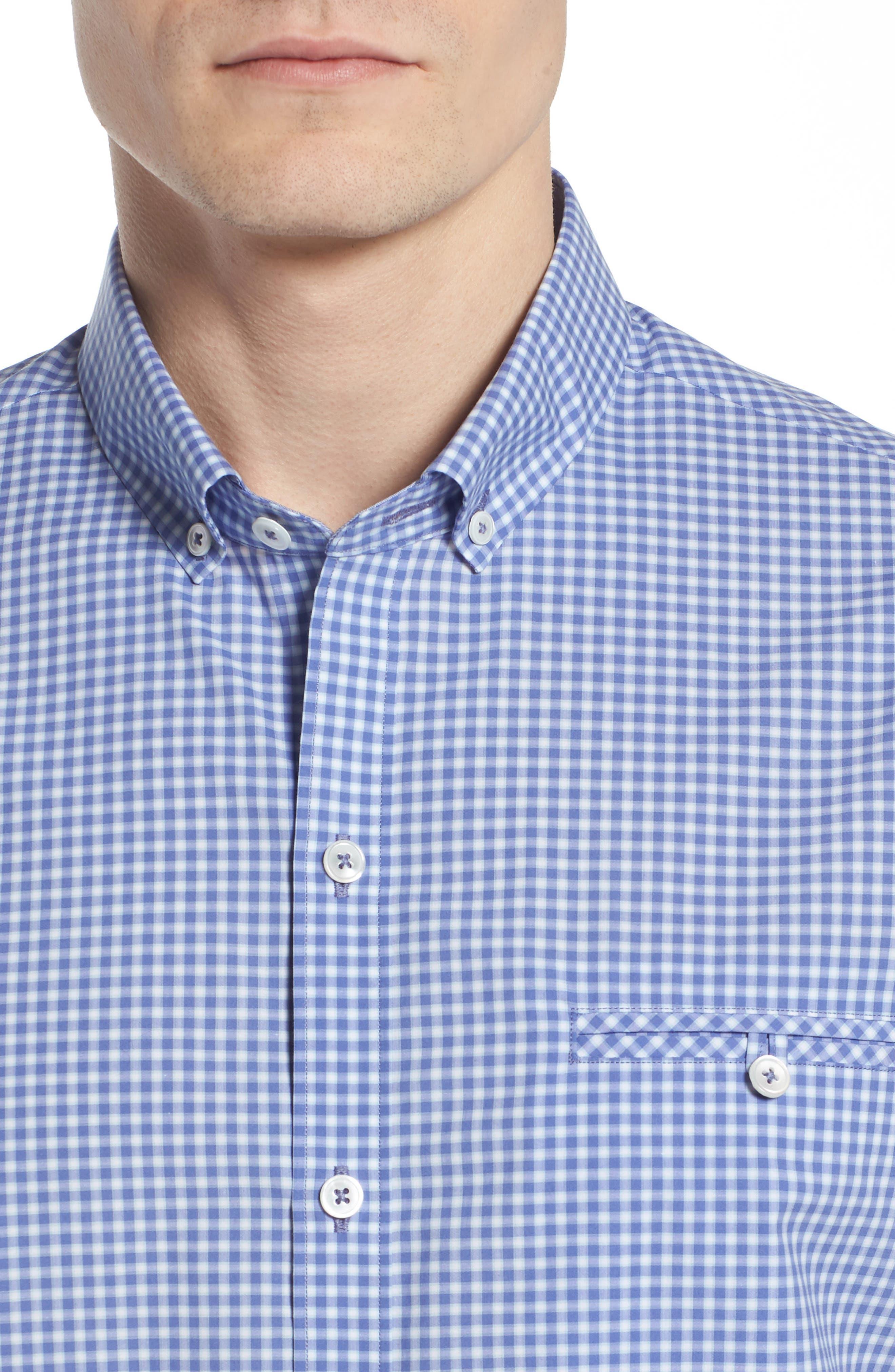 Giovinco Plaid Sport Shirt,                             Alternate thumbnail 2, color,                             Ocean
