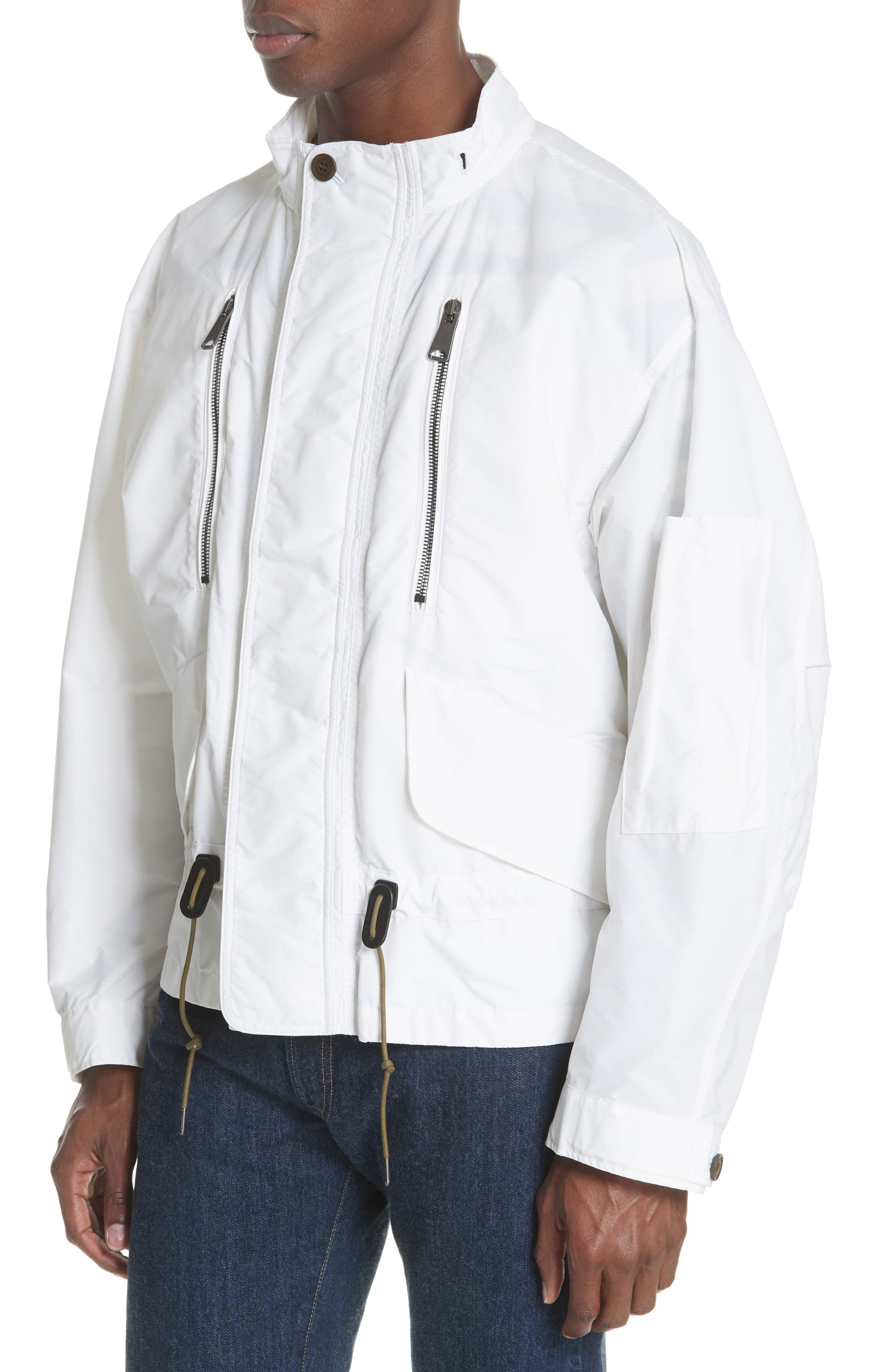 Shenwood Tech Jacket with Detachable Hood,                             Alternate thumbnail 4, color,                             White