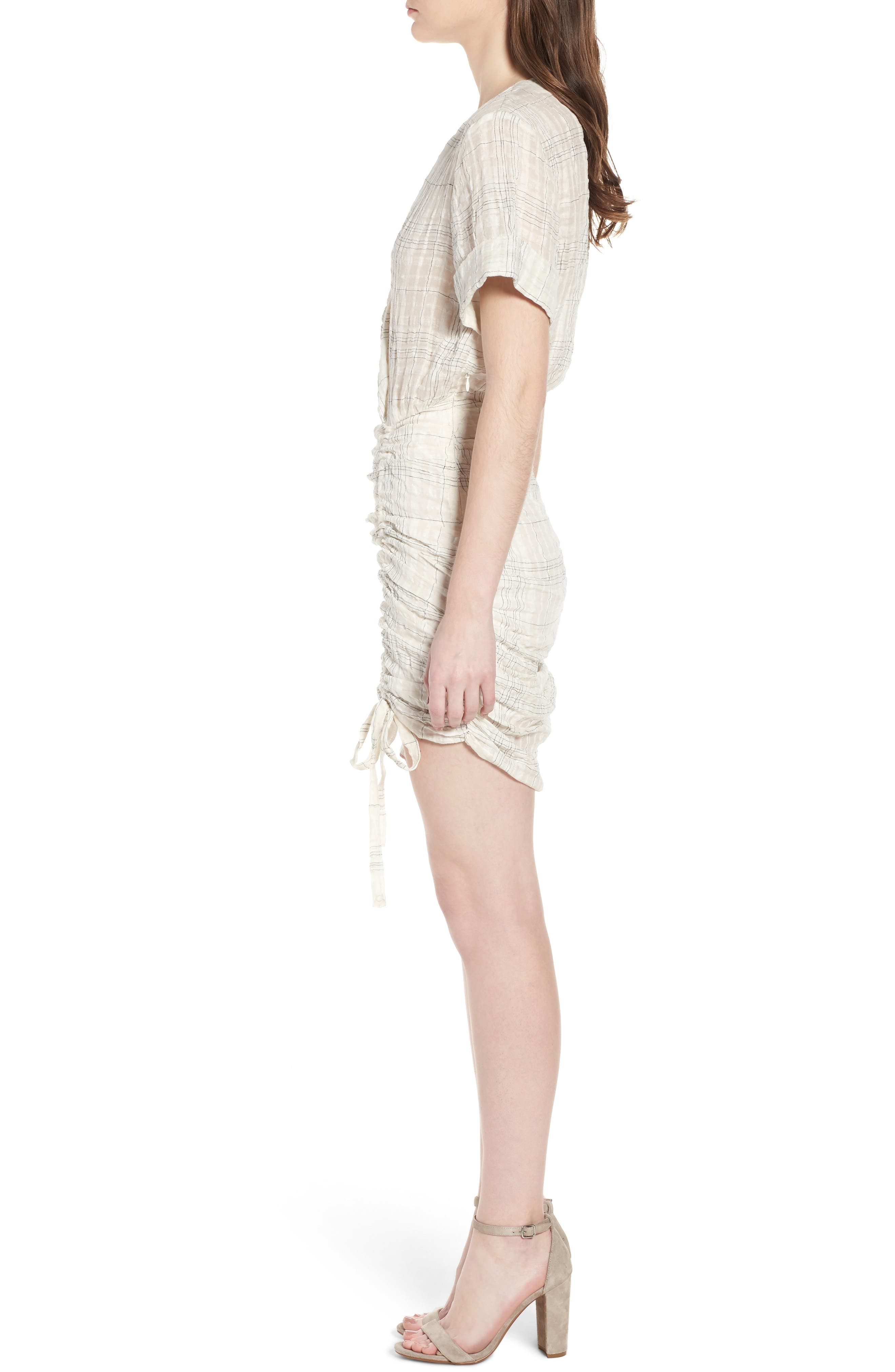 Freja Ruched Dress,                             Alternate thumbnail 3, color,                             Picnic Check