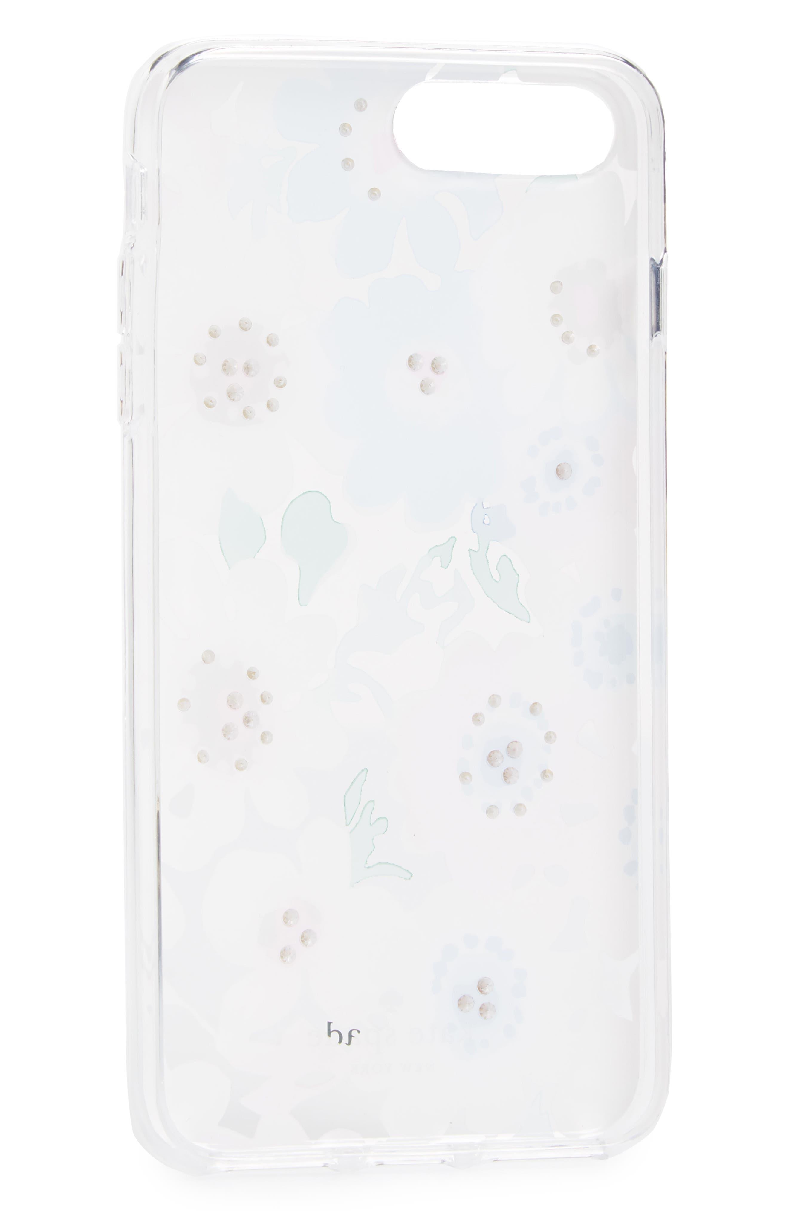 jewel daisy garden iPhone 7/8 & 7/8 Plus case,                             Alternate thumbnail 2, color,                             Clear Multi