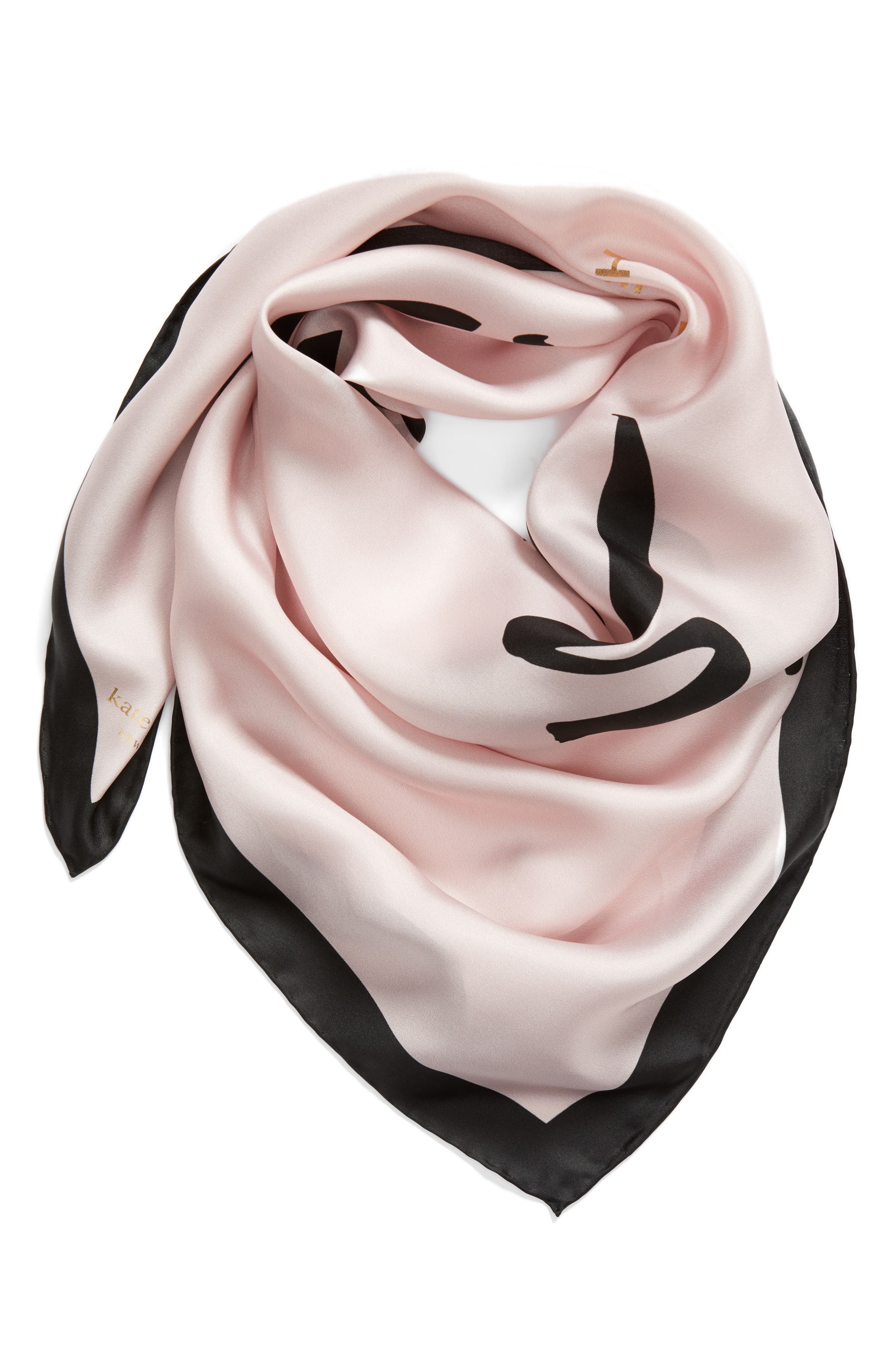 just married square silk scarf,                             Alternate thumbnail 3, color,                             Blush