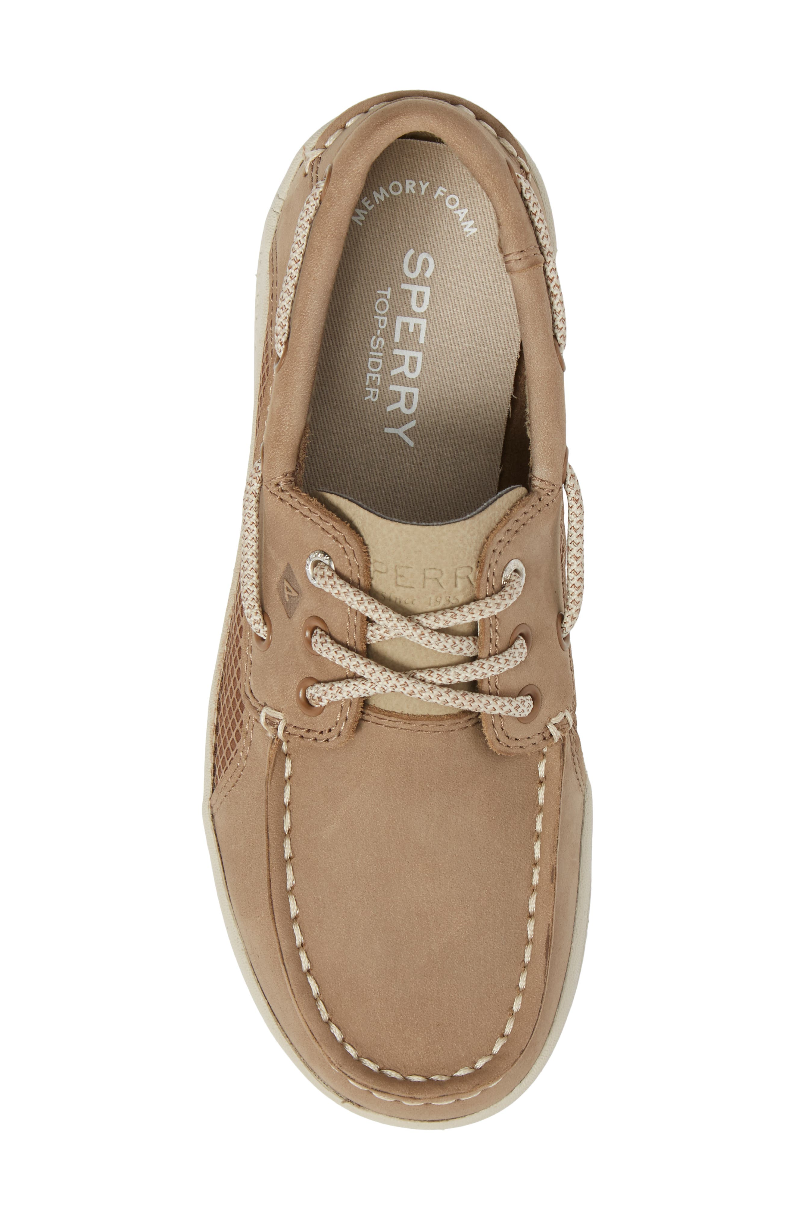 Sperry Gamefish Boat Shoe,                             Alternate thumbnail 5, color,                             Light Tan Leather