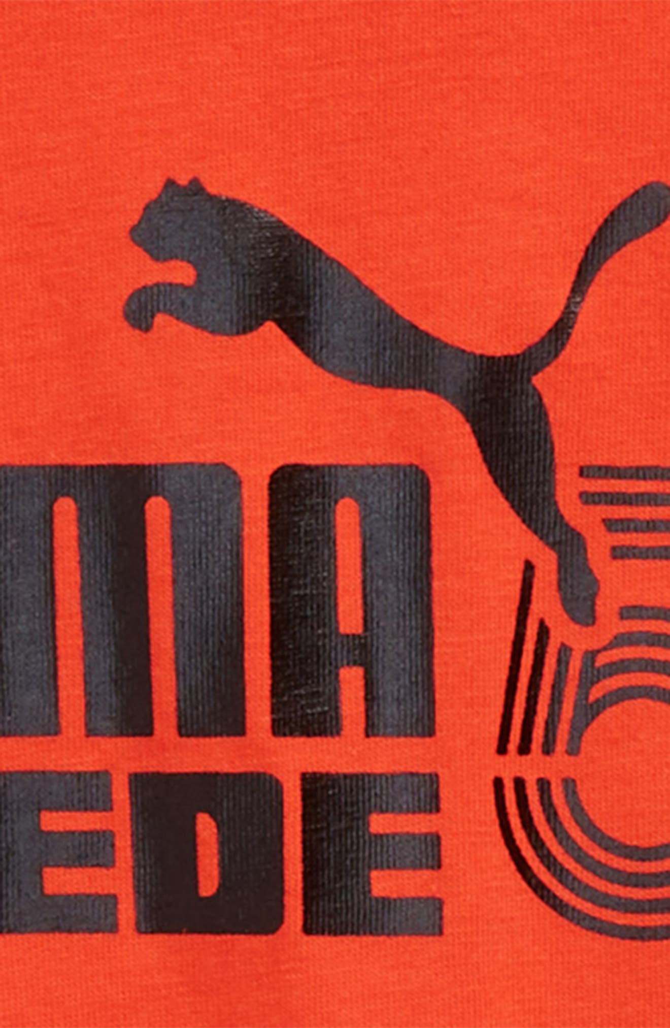 Suede 50th Anniversary Logo T-Shirt,                             Alternate thumbnail 2, color,                             Flame Scarlet