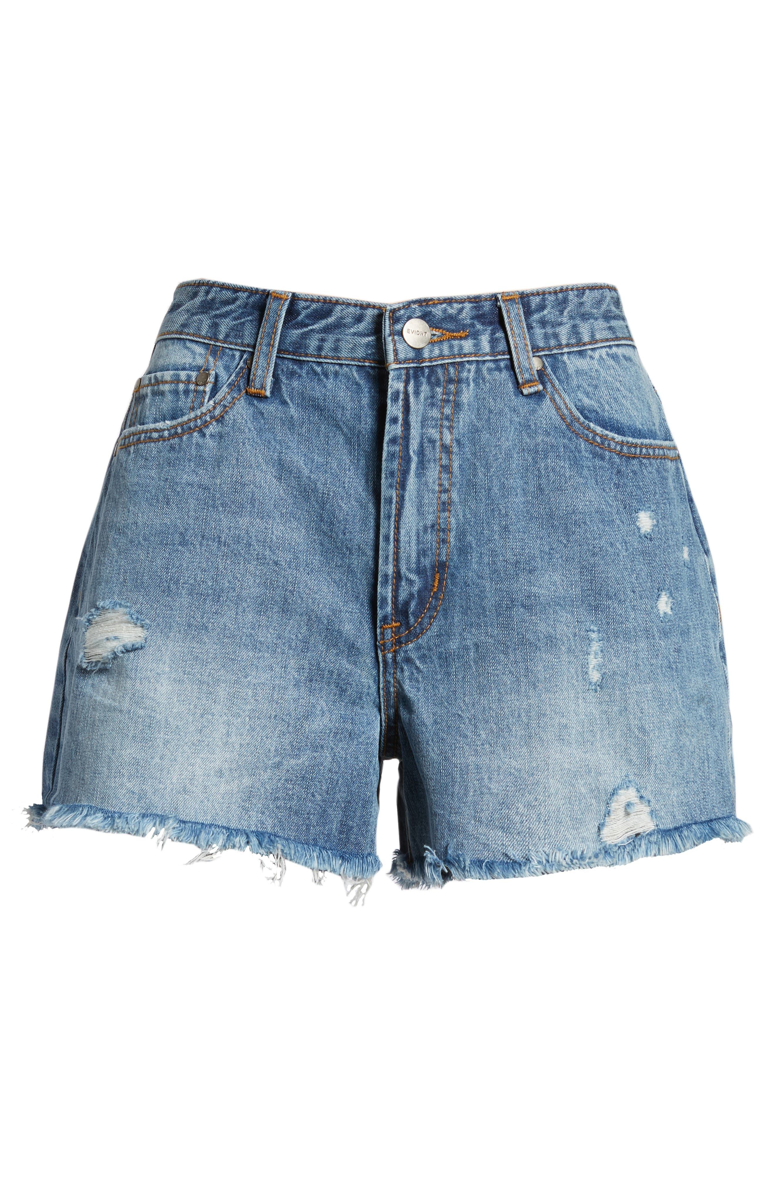 Ripped Boyfriend Shorts,                             Alternate thumbnail 6, color,                             Beachwood