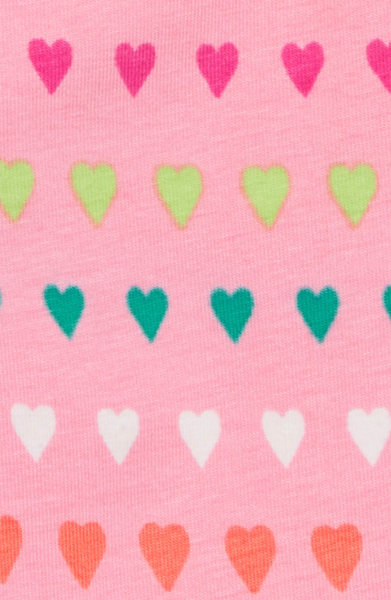 Fashion Print Leggings,                             Alternate thumbnail 2, color,                             Heart Stripes