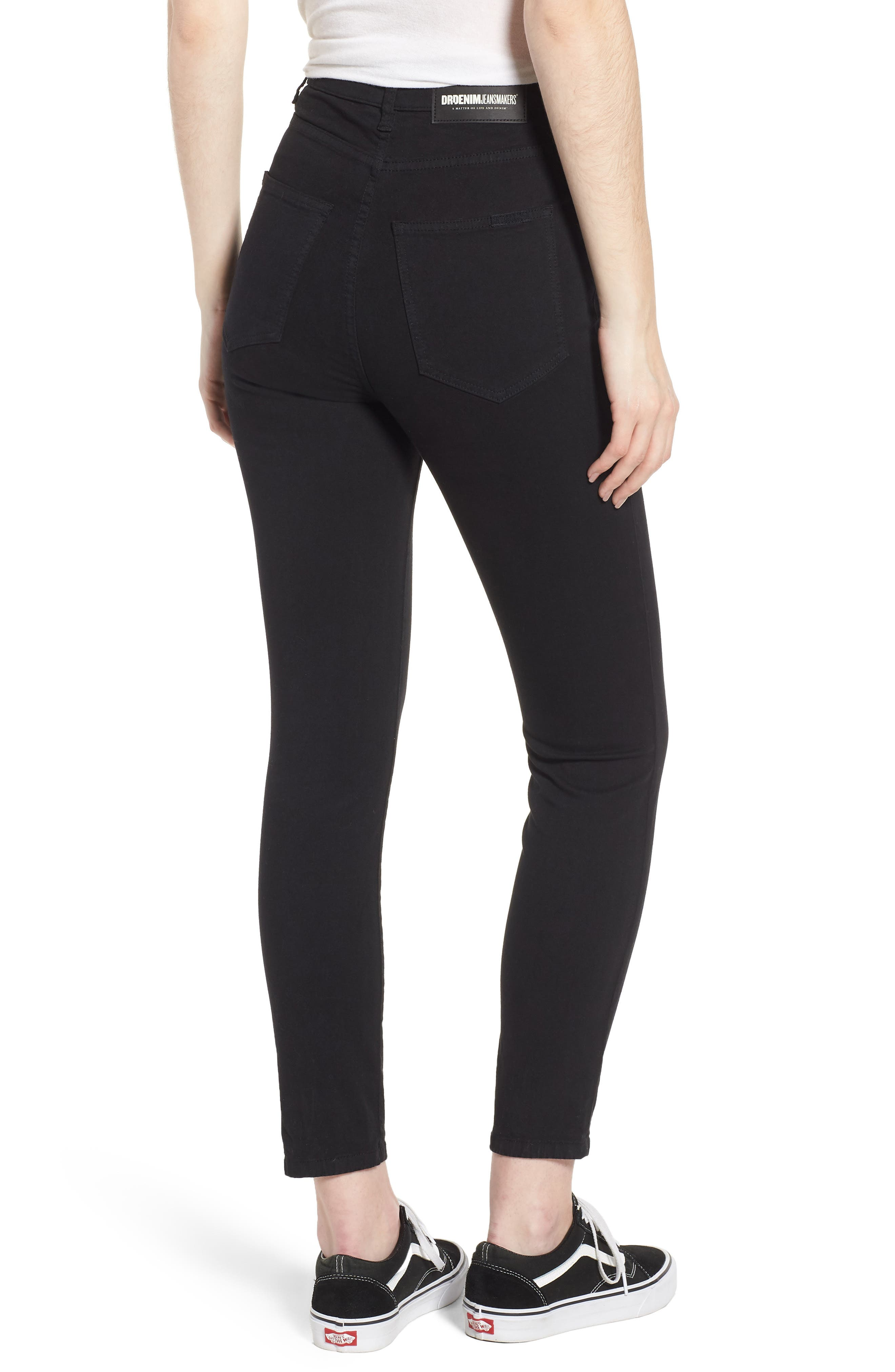 Cropa Cabana Skyhigh Crop Skinny Jeans,                             Alternate thumbnail 2, color,                             Black