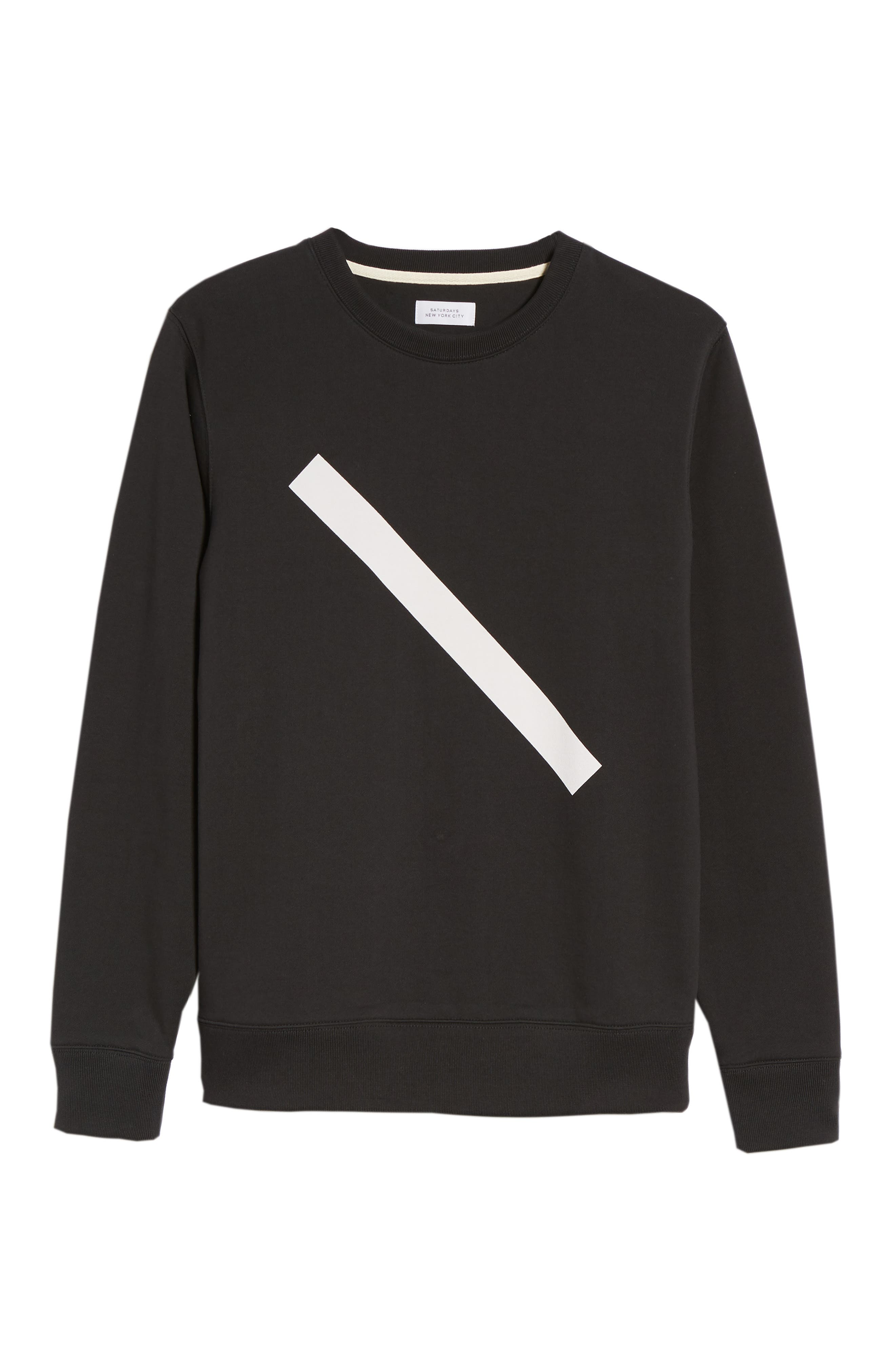 Bowery Slash Sweatshirt,                             Alternate thumbnail 6, color,                             Black