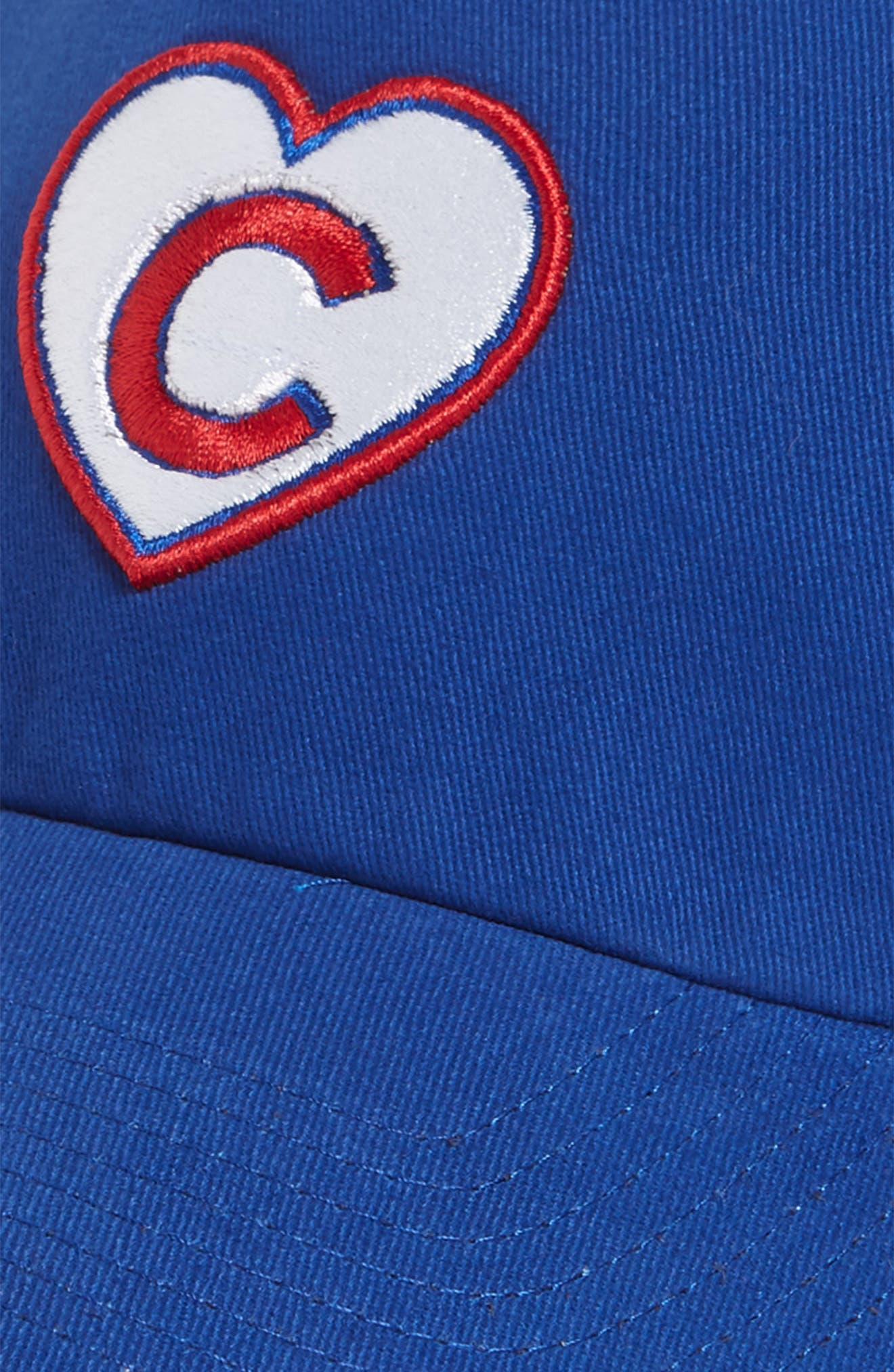 Courtney Clean-Up Chicago Cubs Baseball Cap,                             Alternate thumbnail 3, color,                             Blue