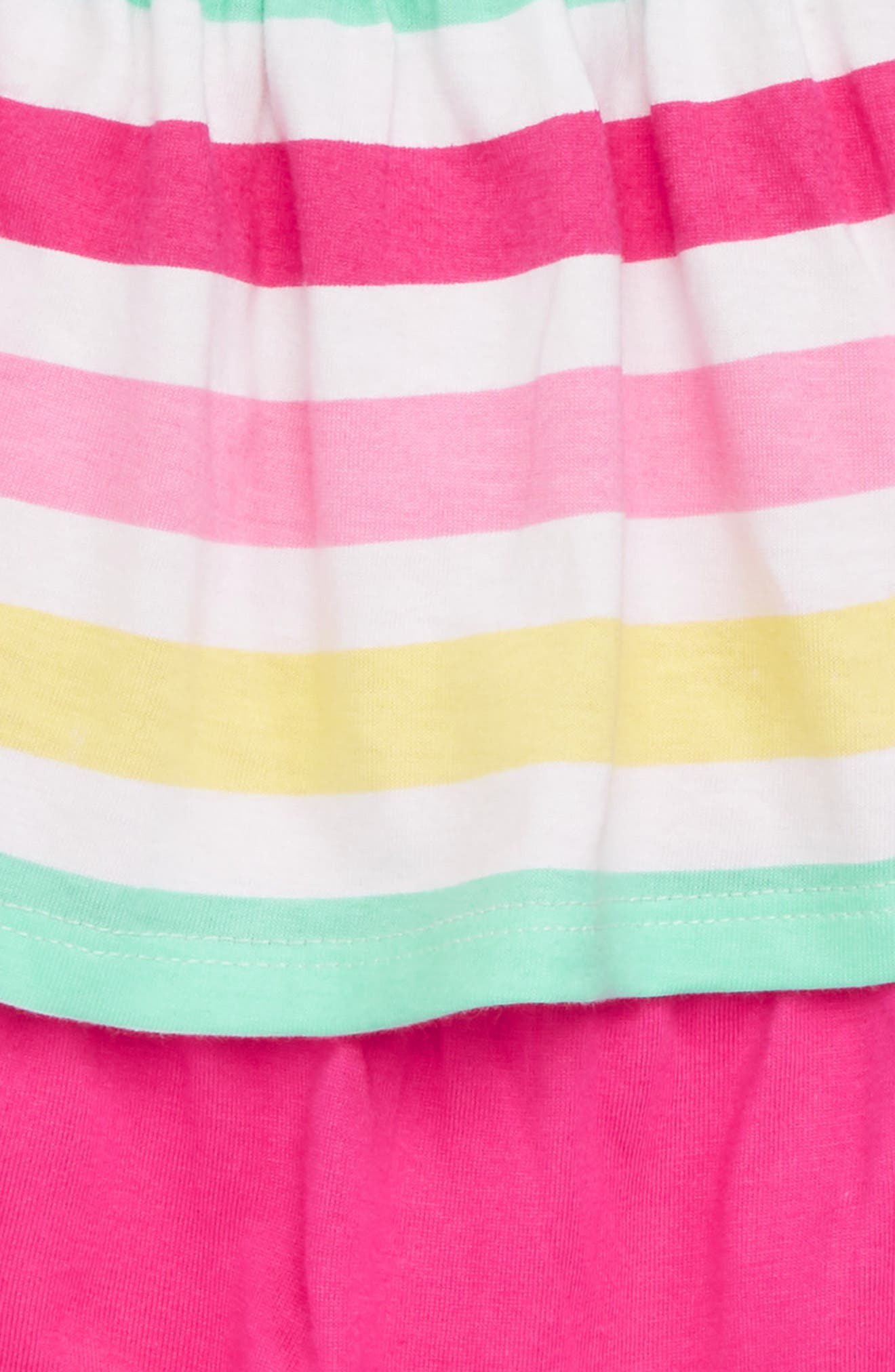 Popover Romper,                             Alternate thumbnail 2, color,                             Fuchsia Summer Stripe