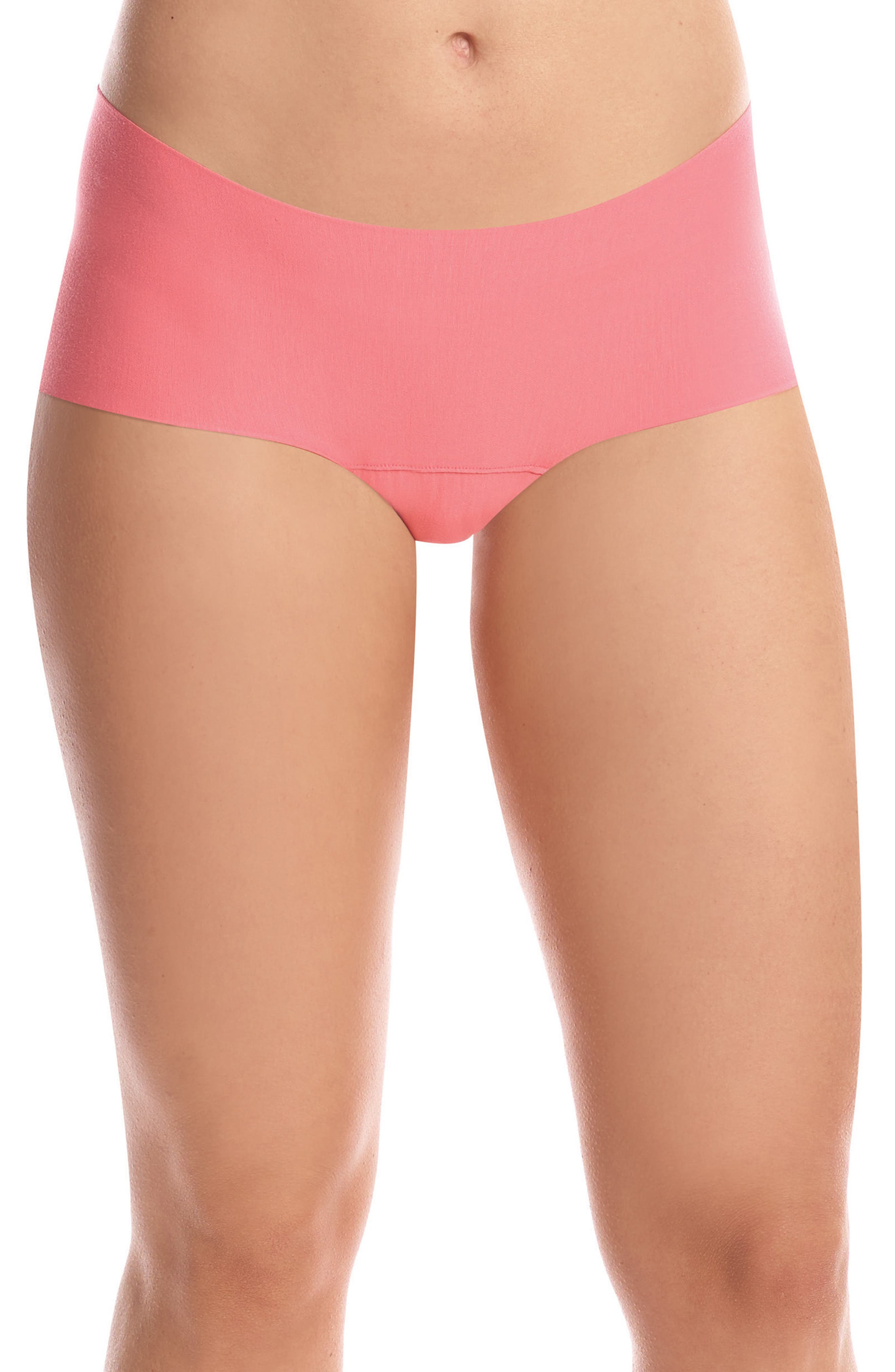 Butter Seamless Hipster Panties,                         Main,                         color, Coral