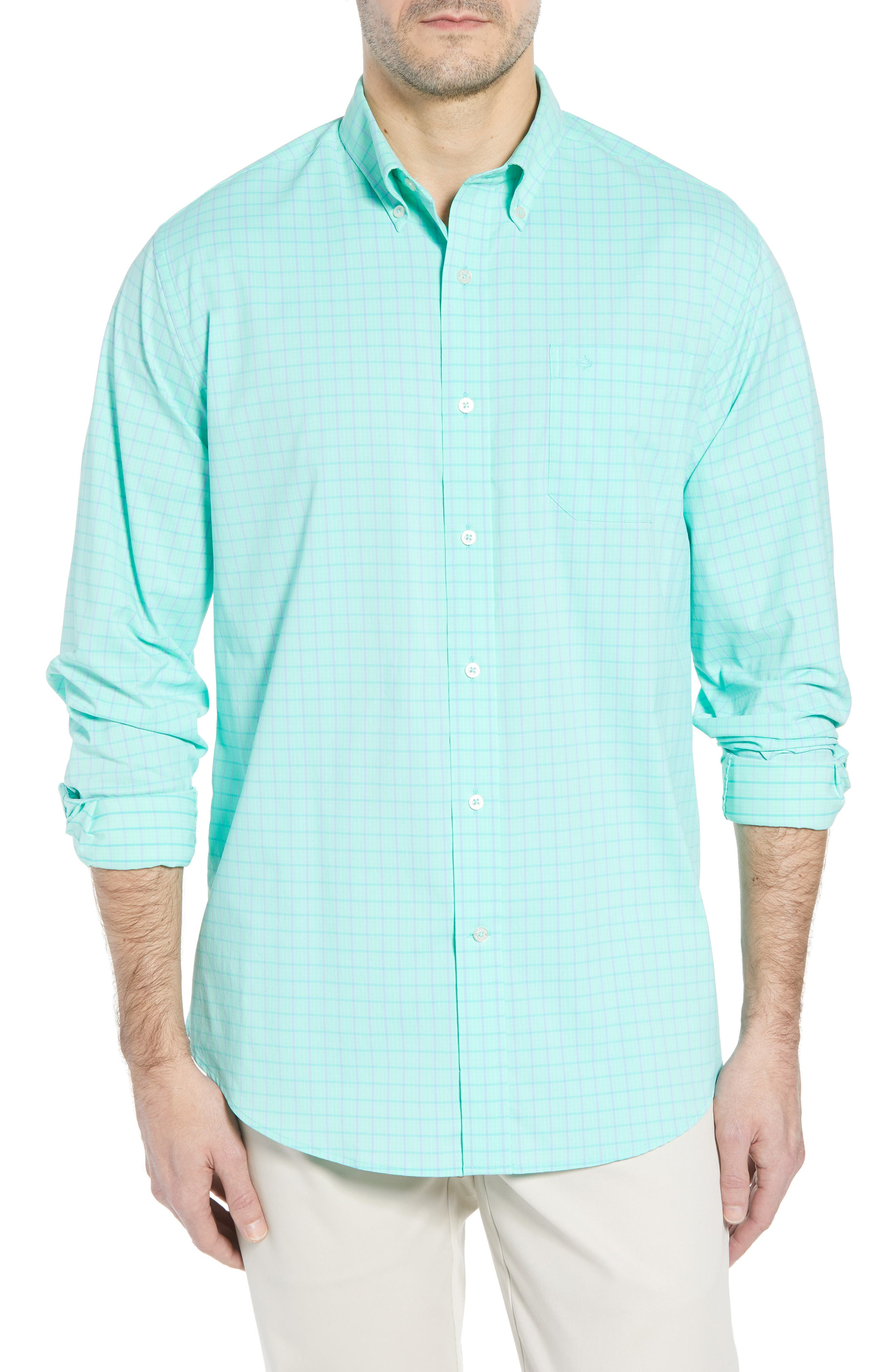 Alternate Image 1 Selected - Southern Tide Intercoastal Gordia Plaid Sport Shirt