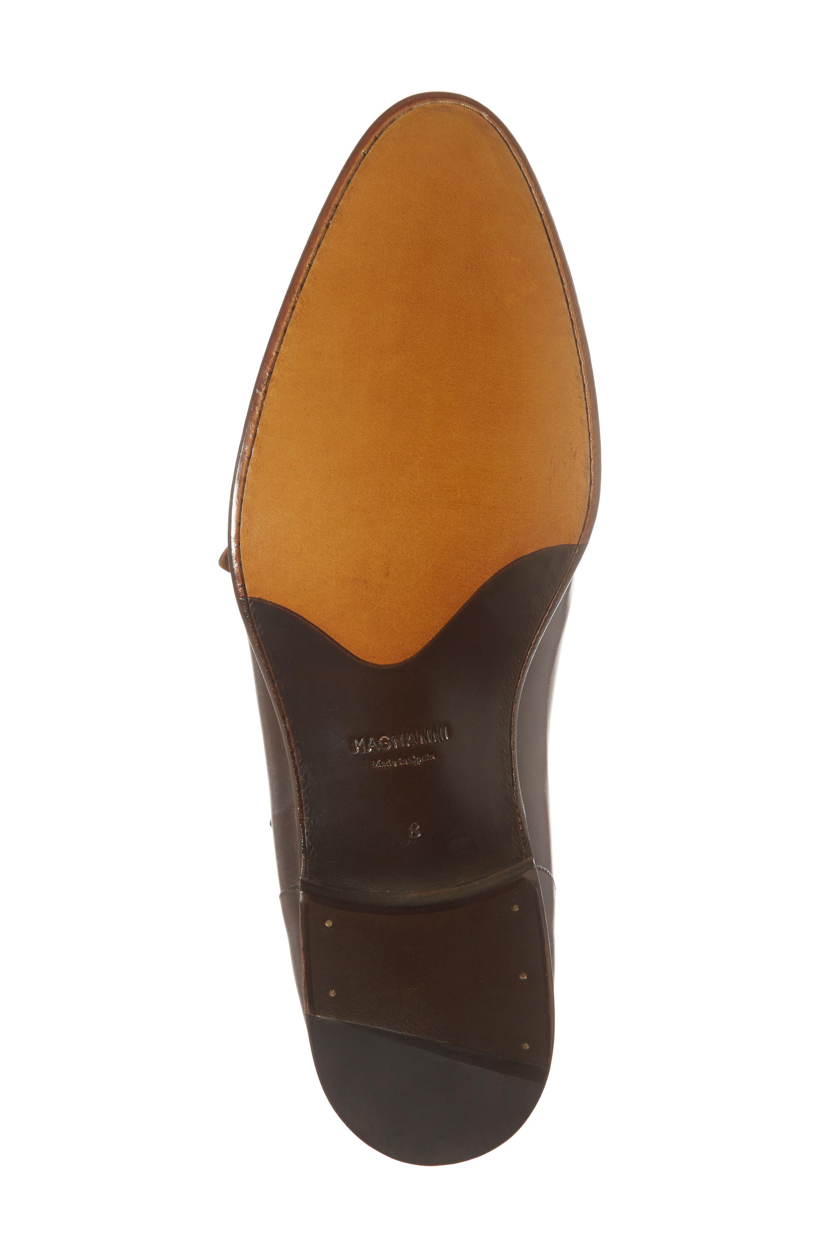 Pratt Double Strap Monk Shoe,                             Alternate thumbnail 6, color,                             Tabaco Leather