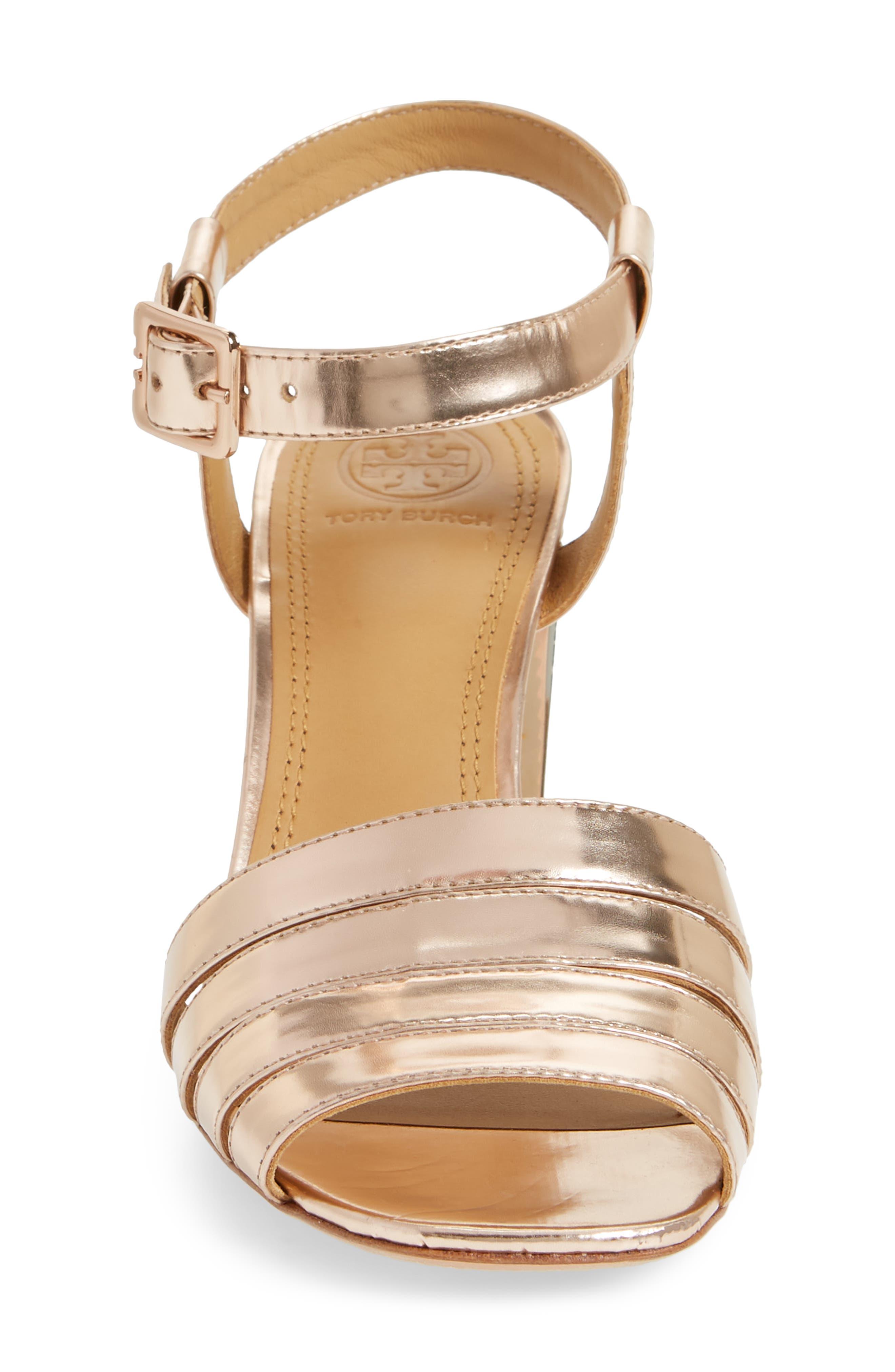 'Bellman' Cutout Sandal,                             Alternate thumbnail 4, color,                             Rose Gold
