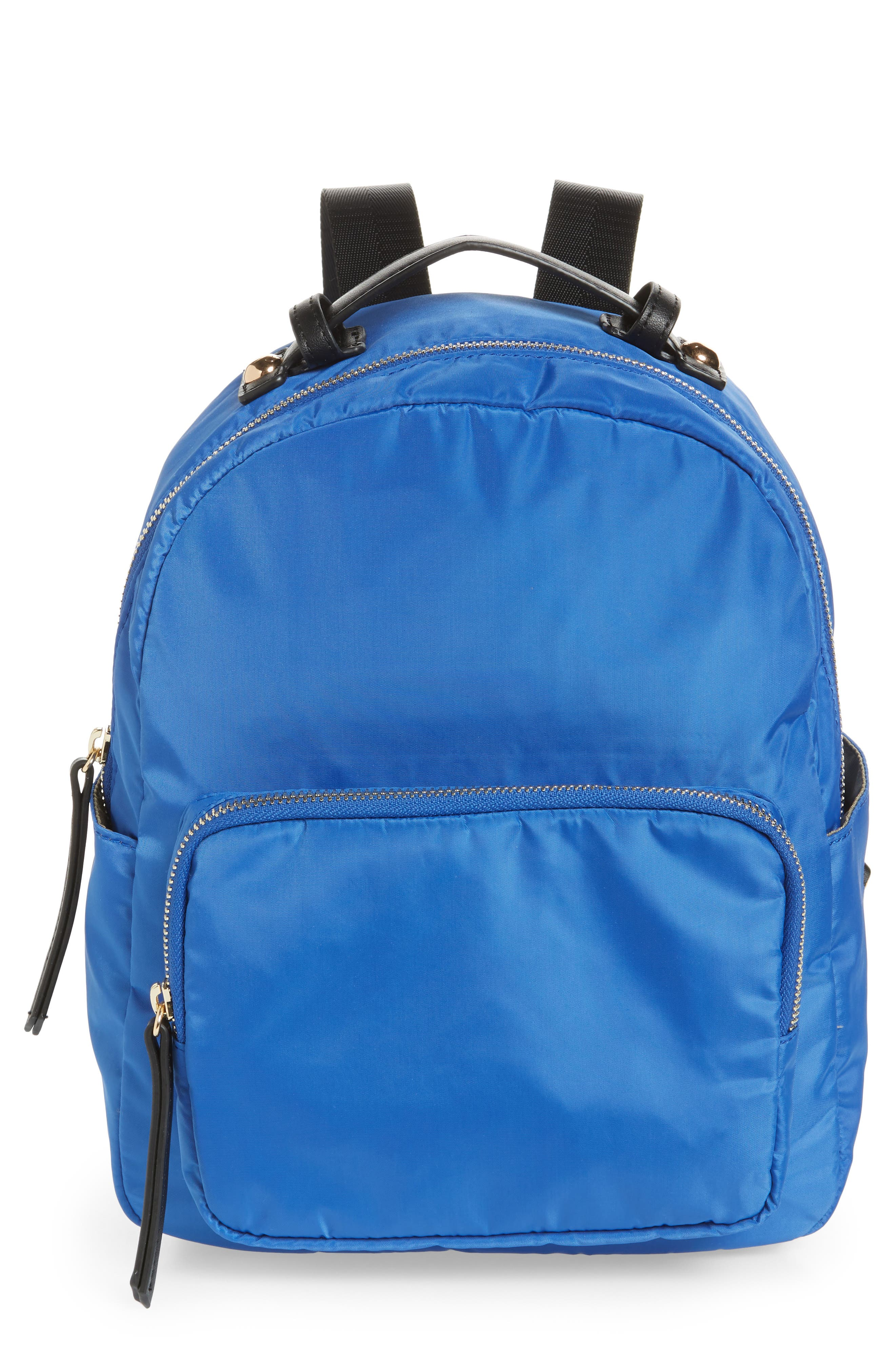 Nylon Backpack,                         Main,                         color, Cobalt
