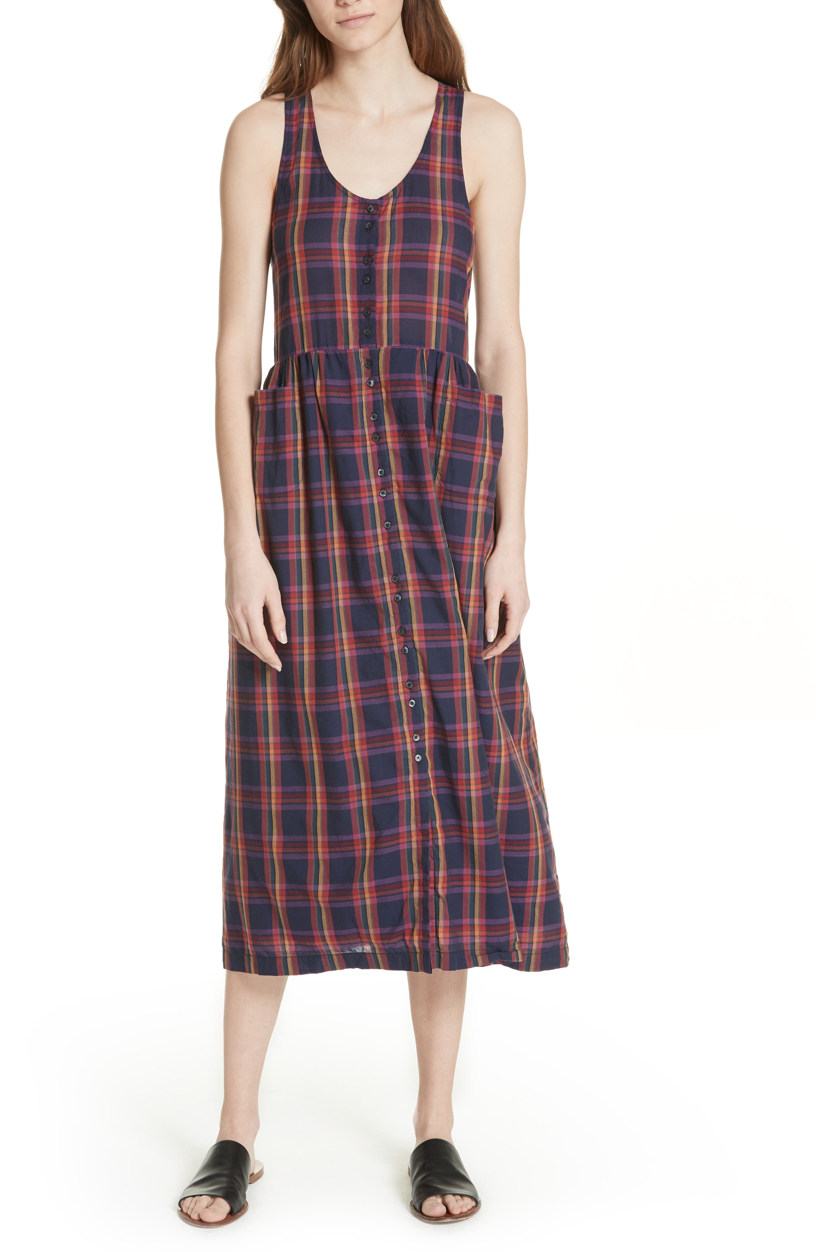 The Harvest Dress,                         Main,                         color, Candy Plaid