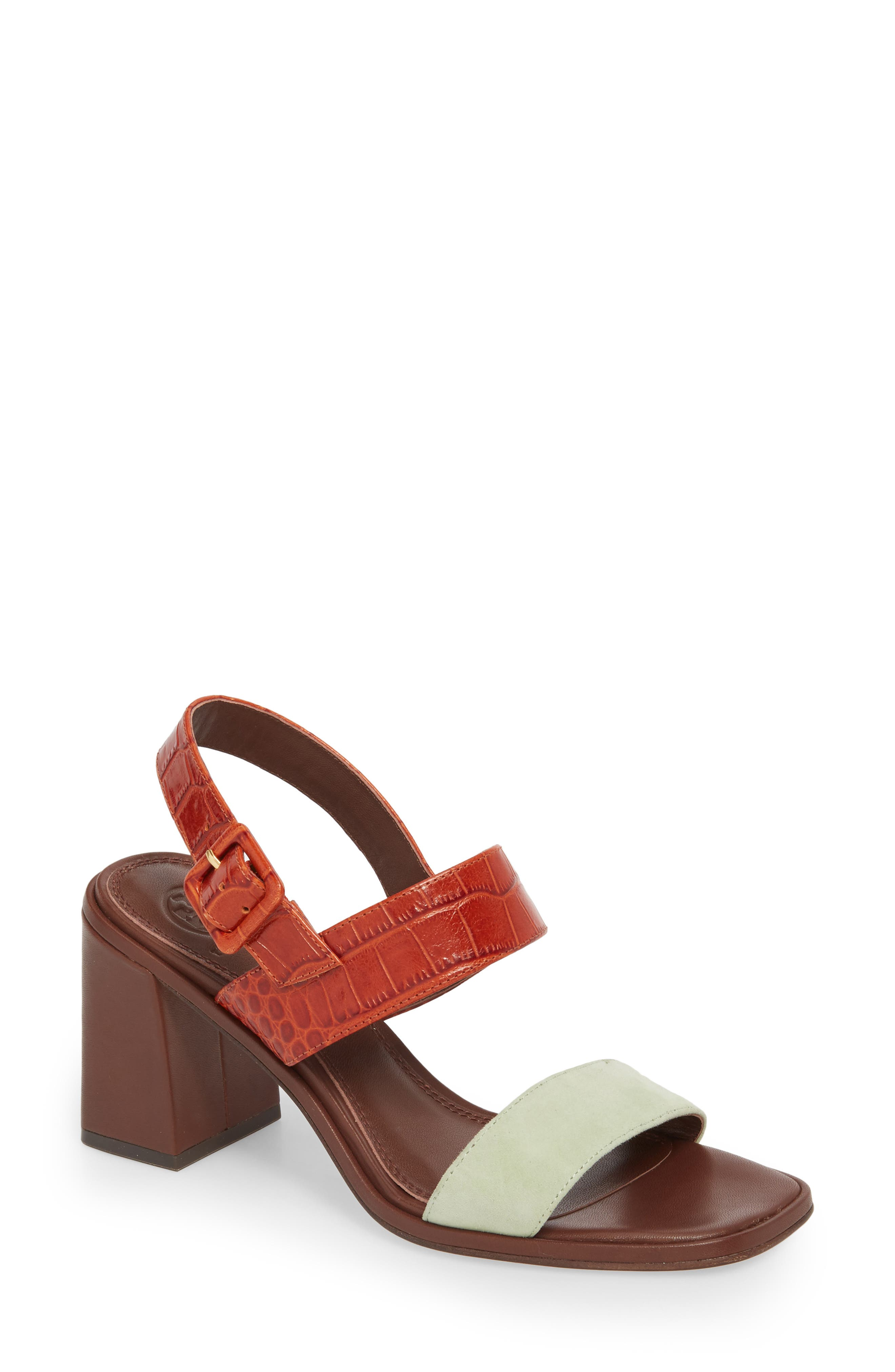 DELANEY COLOR-BLOCK SANDAL 298 Garden Sage / Desert Spice SEA SHELL PINK / MALBEC shopping online sale online clearance best wholesale official site for sale high quality cheap price dJi3fM1