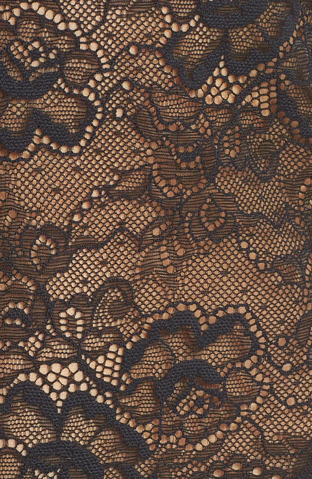 Lace Chemise,                             Alternate thumbnail 5, color,                             Black