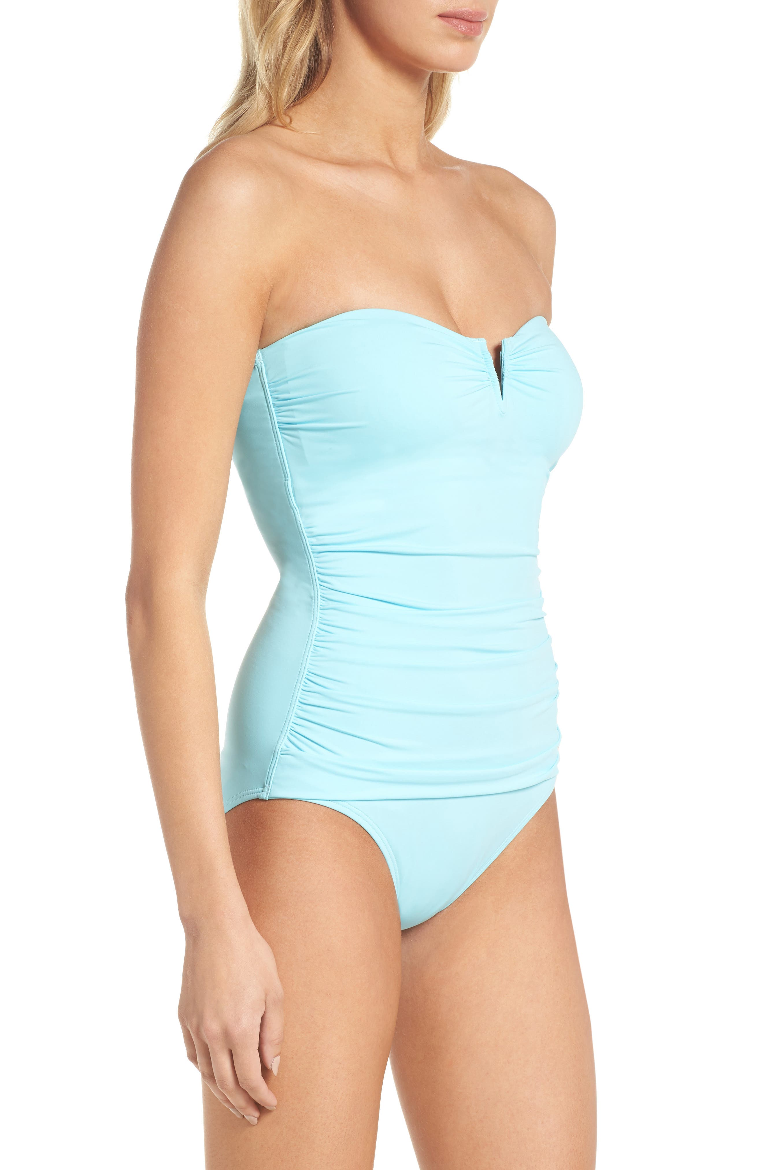 'Pearl' Convertible One-Piece Swimsuit,                             Alternate thumbnail 3, color,                             Swimming Pool