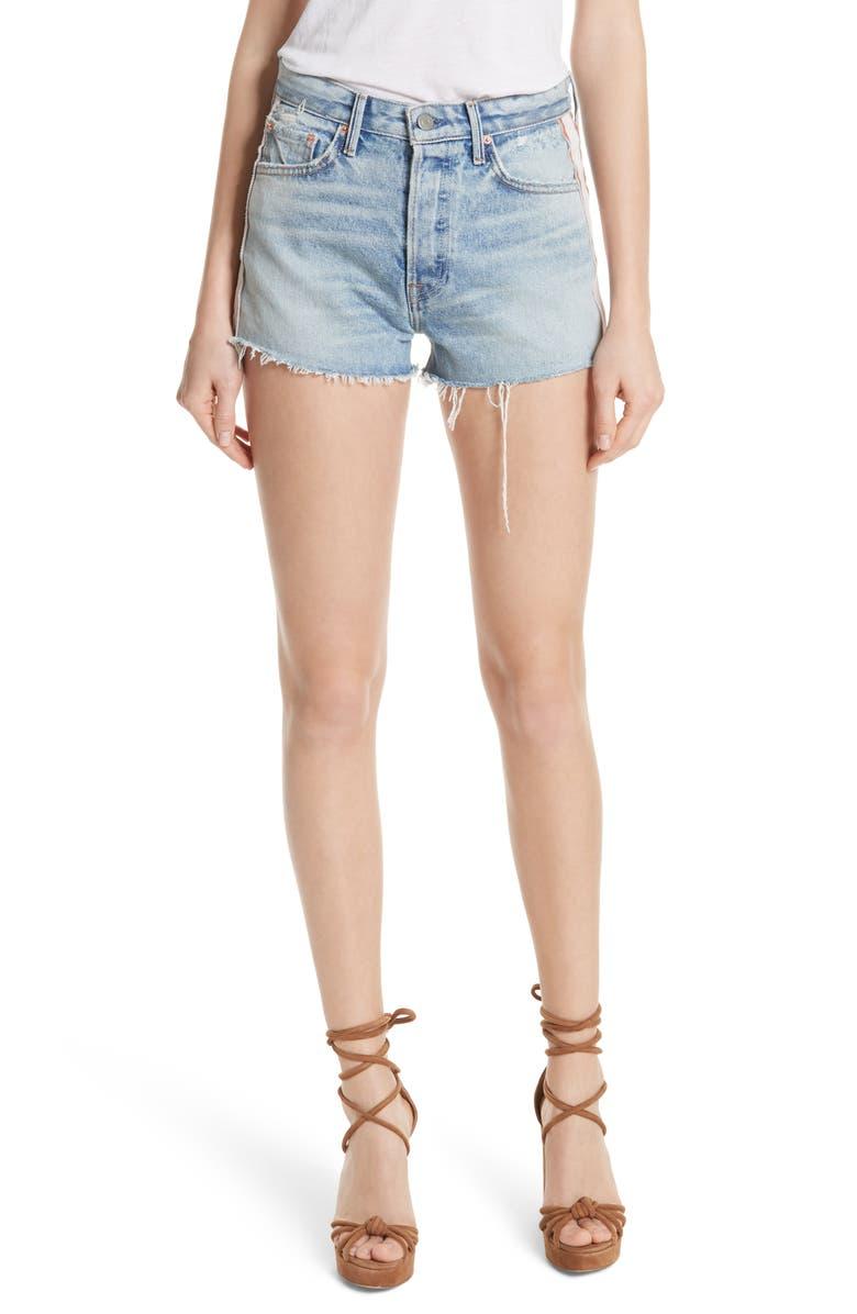 Cindy Side Stripe Denim Shorts