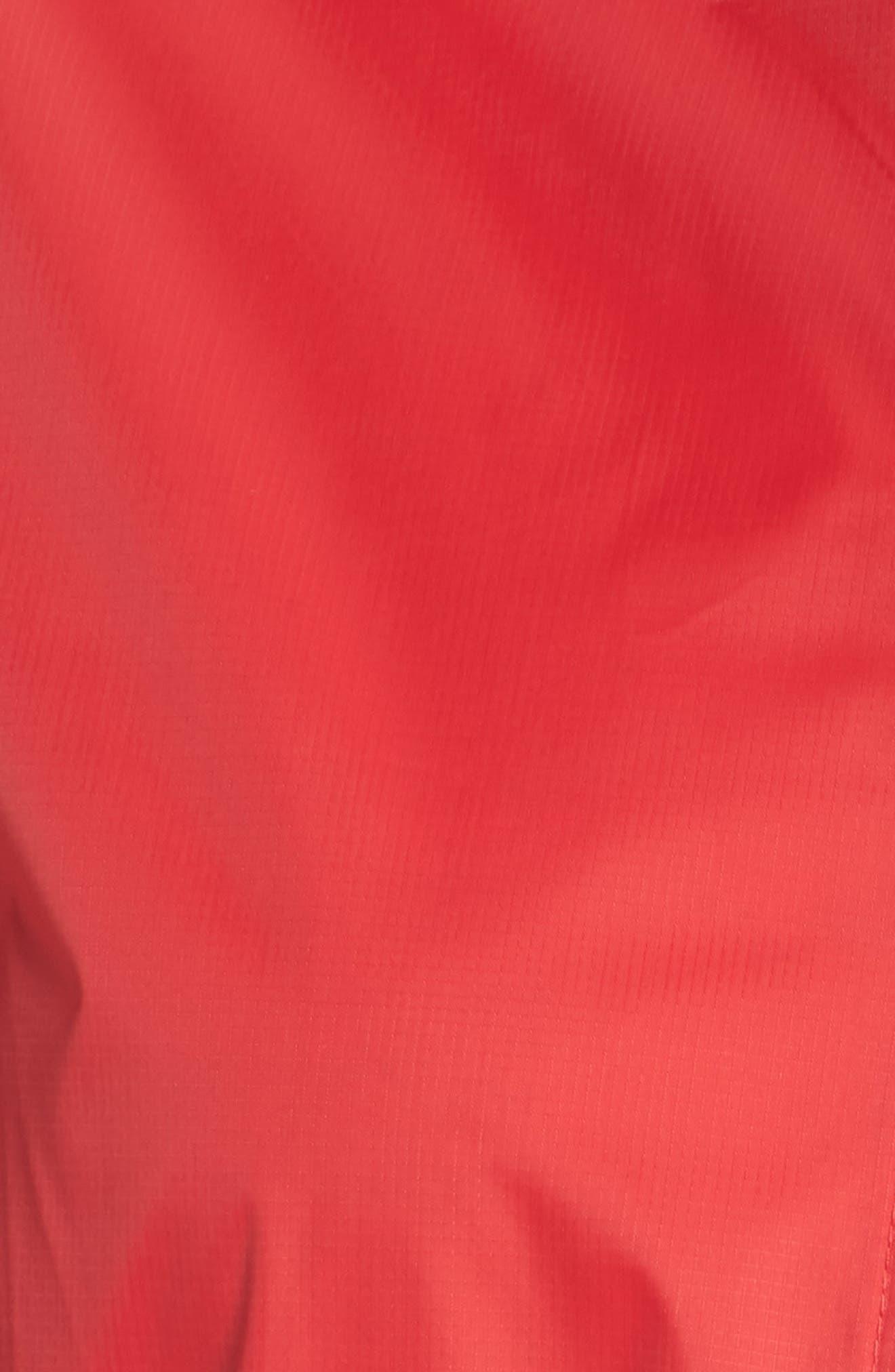 Packable Rain Jacket,                             Alternate thumbnail 7, color,                             Red
