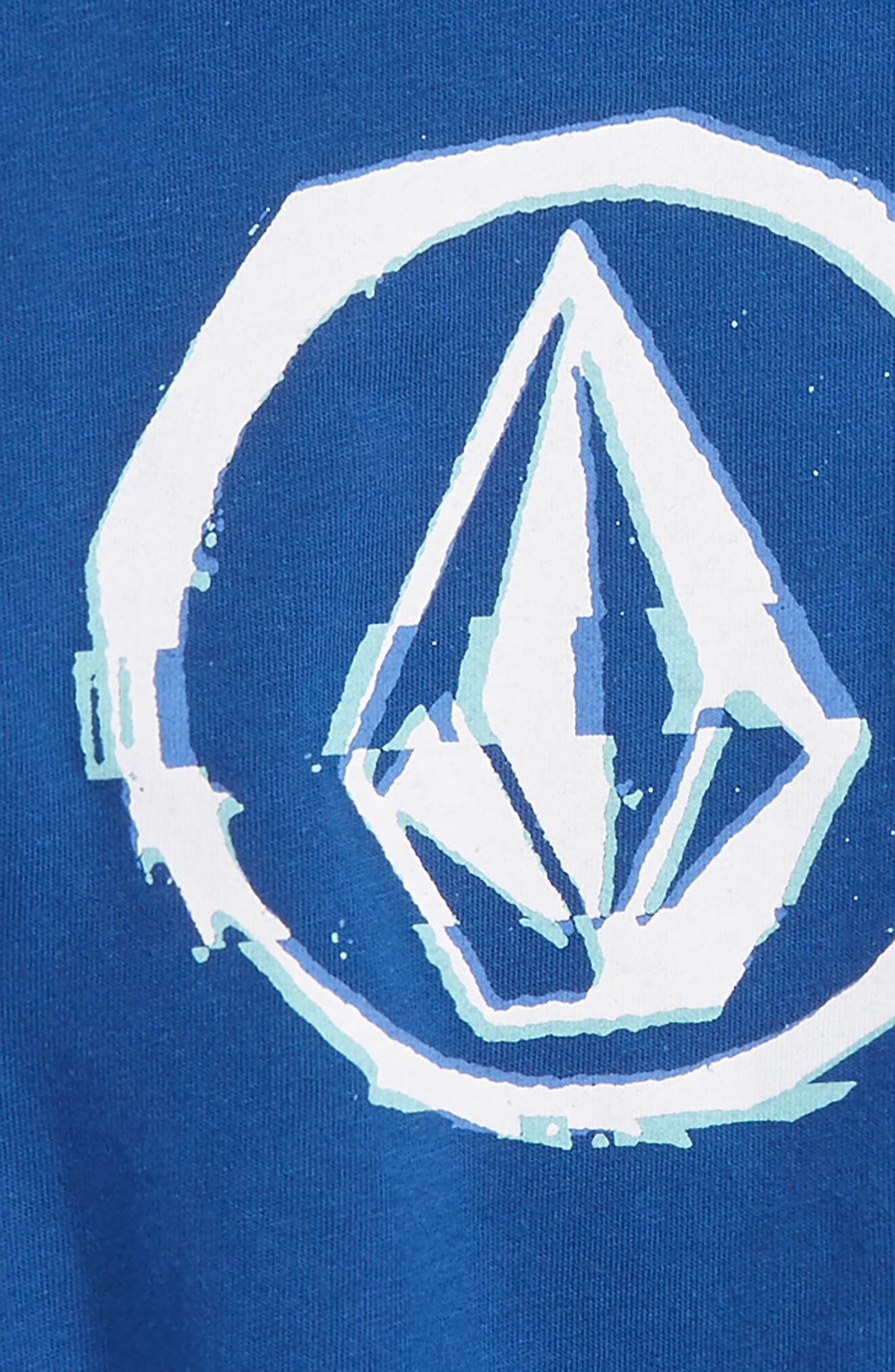Glitchy Graphic T-Shirt,                             Alternate thumbnail 2, color,                             Camper Blue