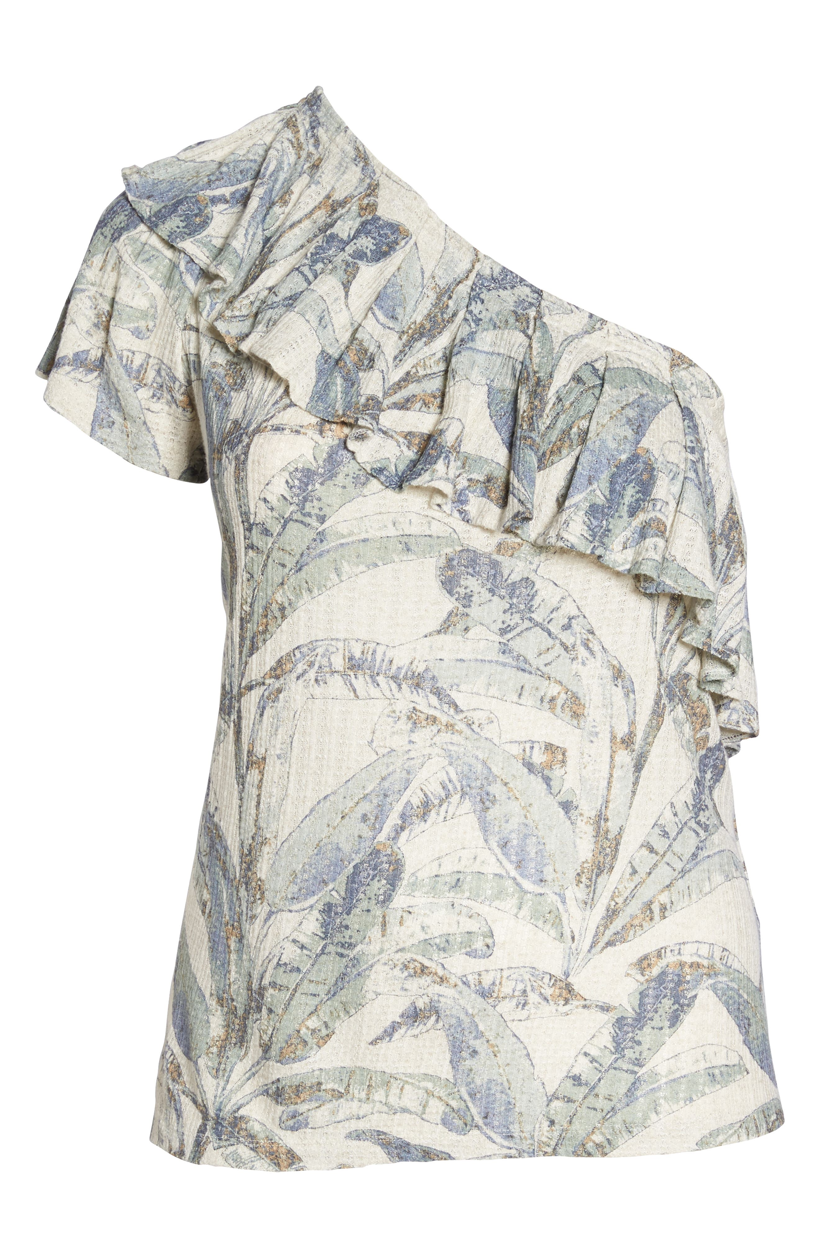 Tropical One-Shoulder Top,                             Alternate thumbnail 7, color,                             Natural Multi Mystery Island