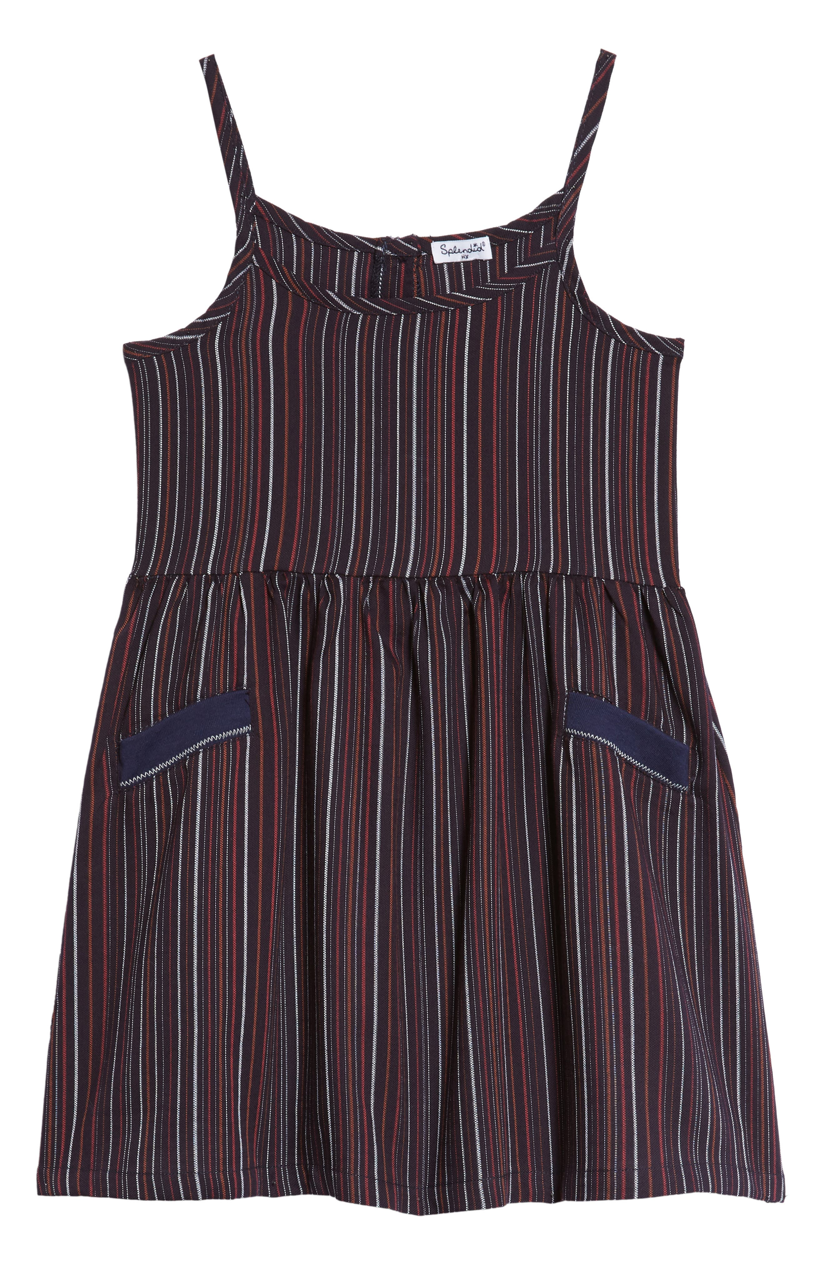 Alternate Image 1 Selected - Splendid Stripe Tank Dress (Toddler Girls & Little Girls)