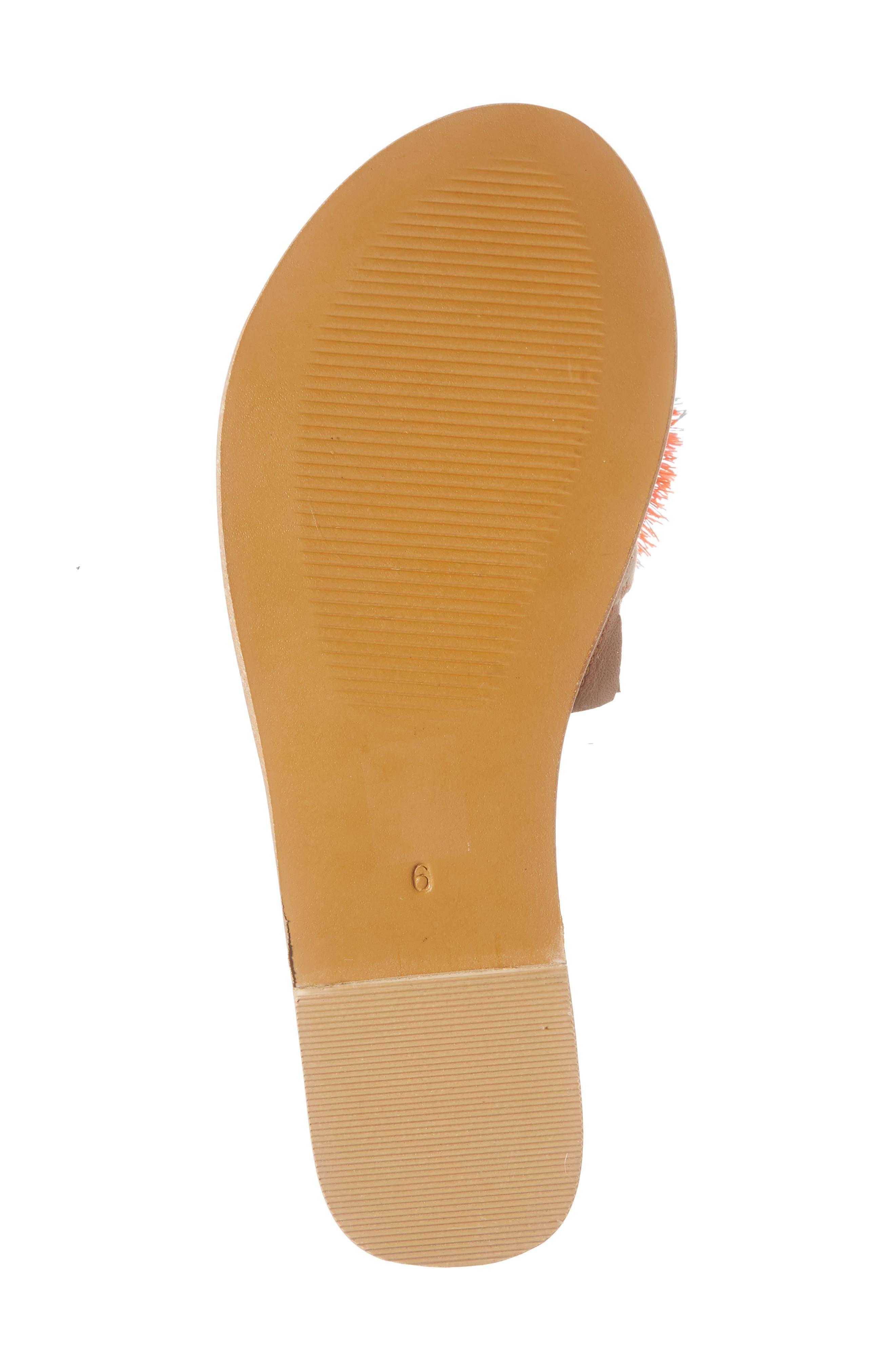 Orton Slide Sandal,                             Alternate thumbnail 6, color,                             Orange Multi Fabric