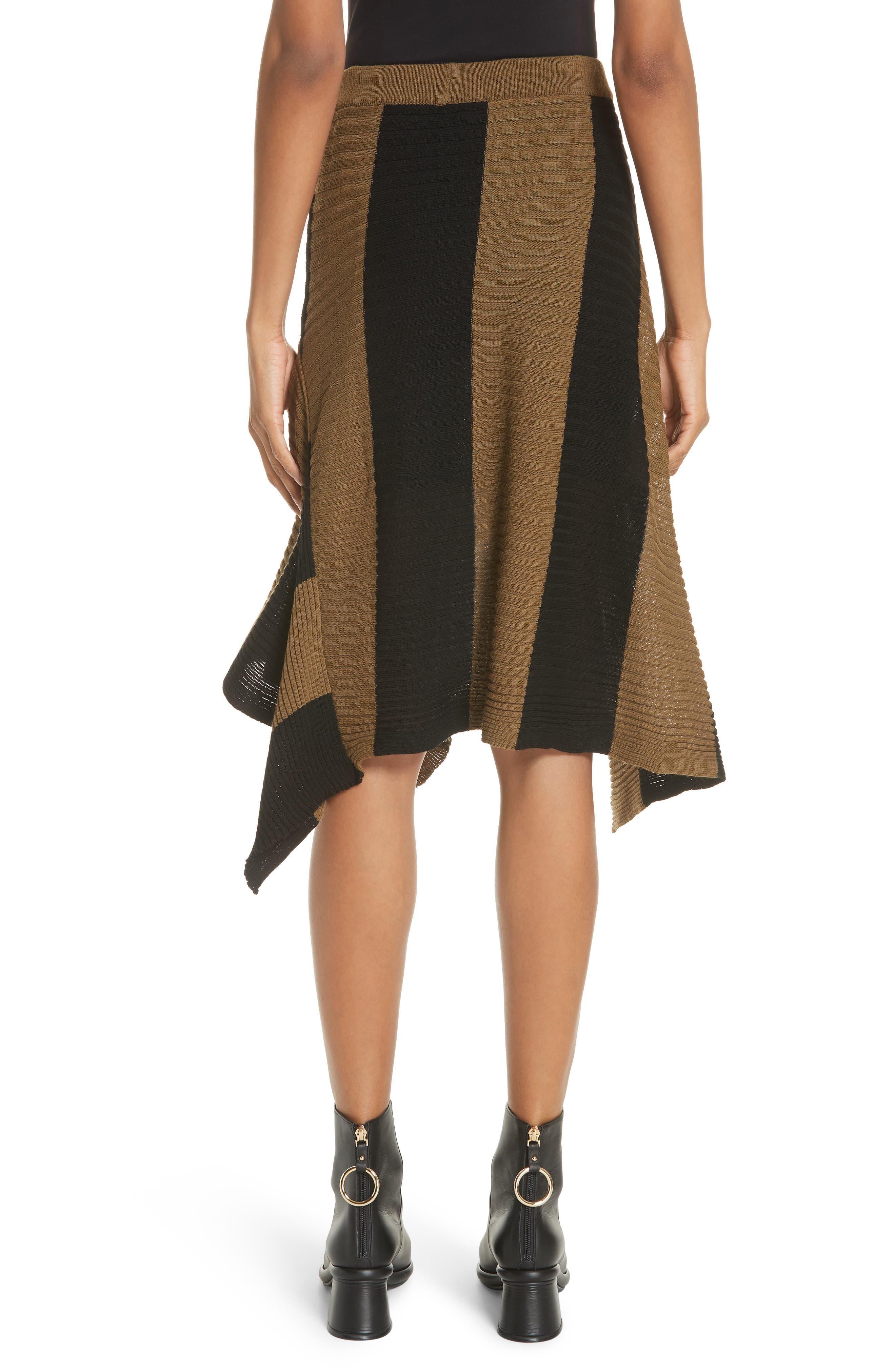 Marques'Almeida Draped Skirt,                             Alternate thumbnail 2, color,                             Khaki/ Black