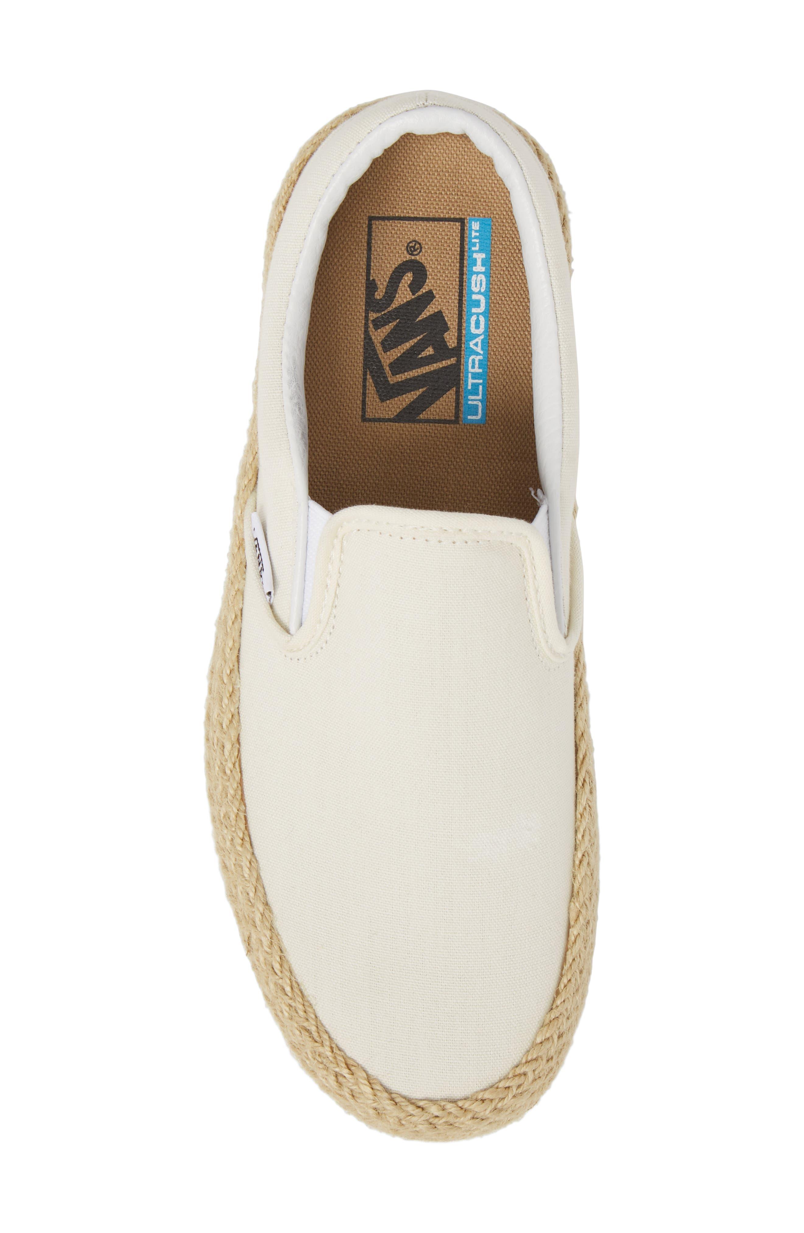 Platform Slip-On Sneaker,                             Alternate thumbnail 5, color,                             Marshmallow