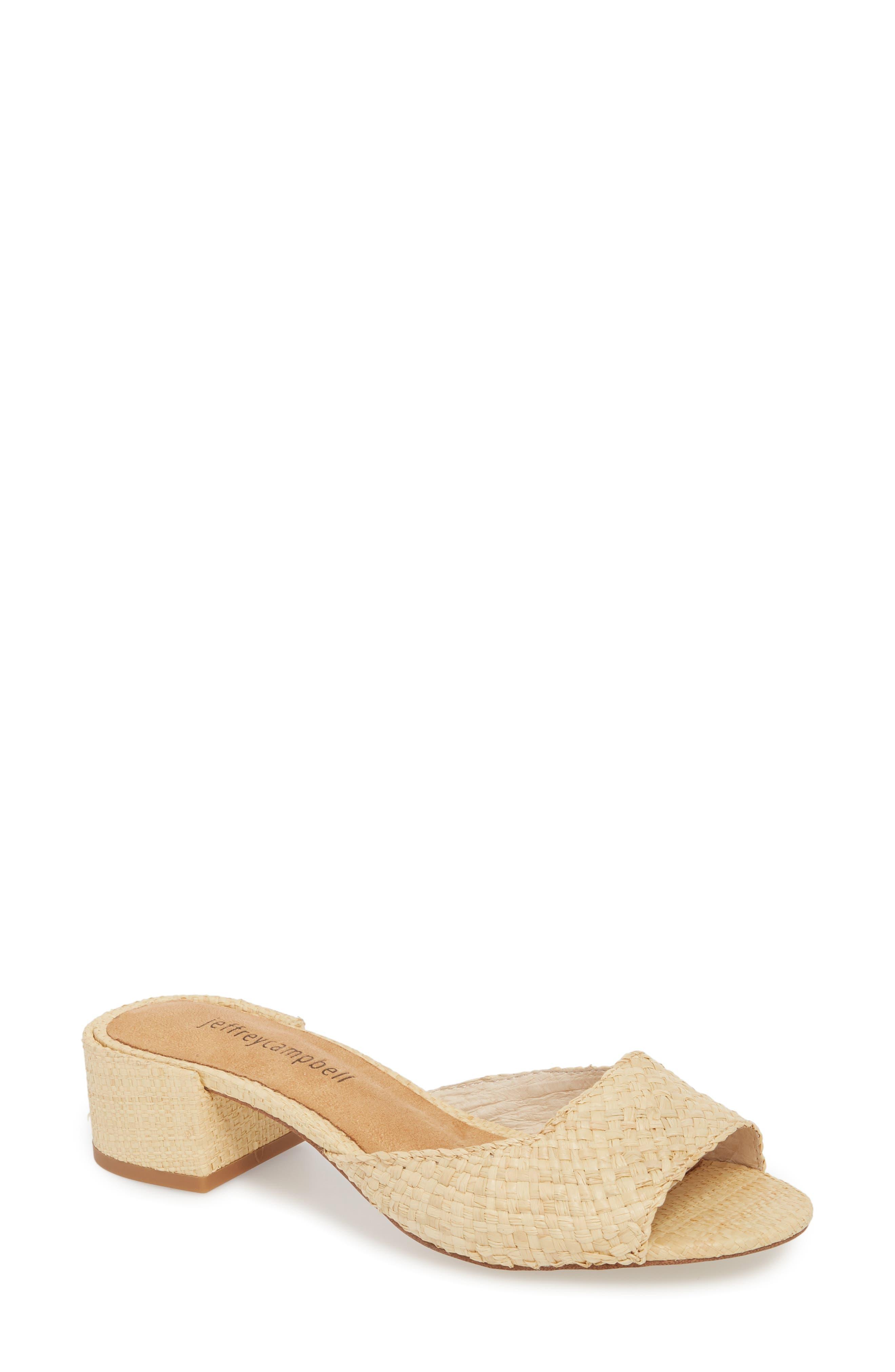 Mélange Slide Sandal,                         Main,                         color, Natural