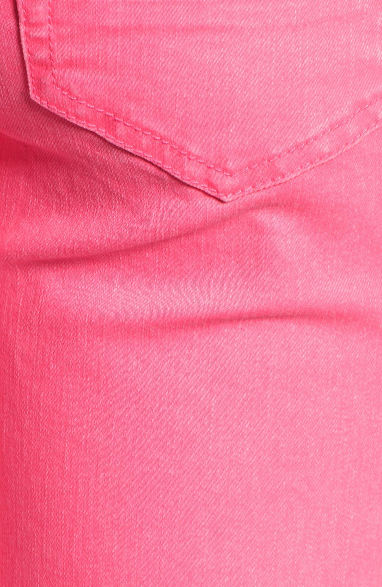 Alternate Image 5  - Tinsel Distressed Roll Cuff Skinny Jeans