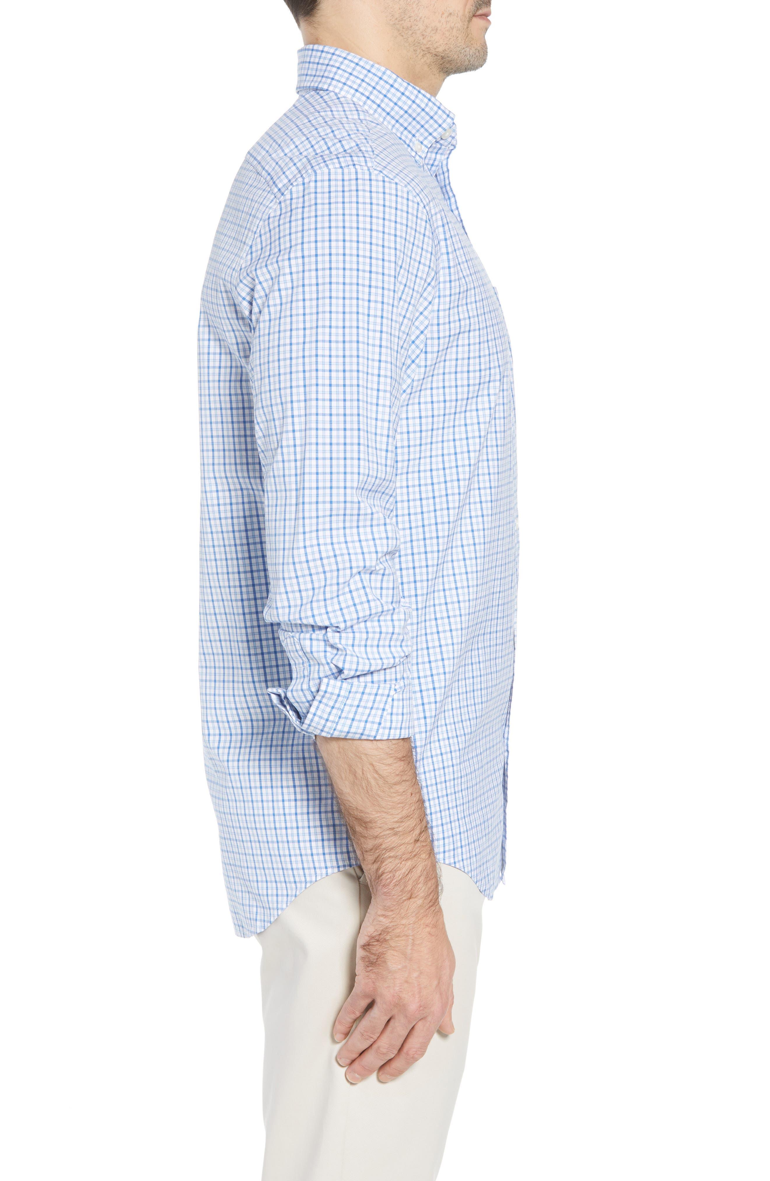 Clark Cove Tucker Classic Fit Check Sport Shirt,                             Alternate thumbnail 4, color,                             Jake Blue