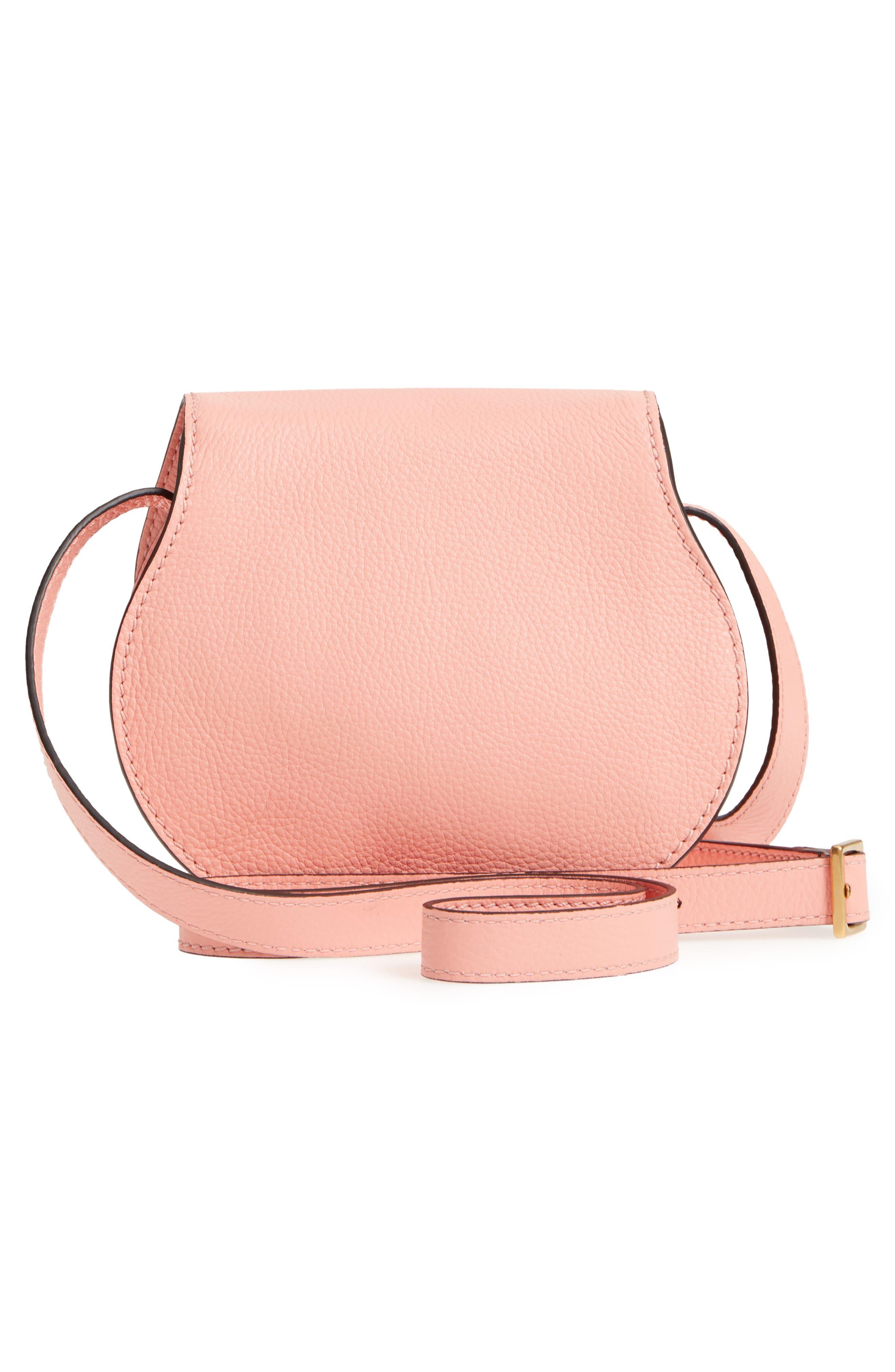 'Mini Marcie' Leather Crossbody Bag,                             Alternate thumbnail 3, color,                             Ideal Blush