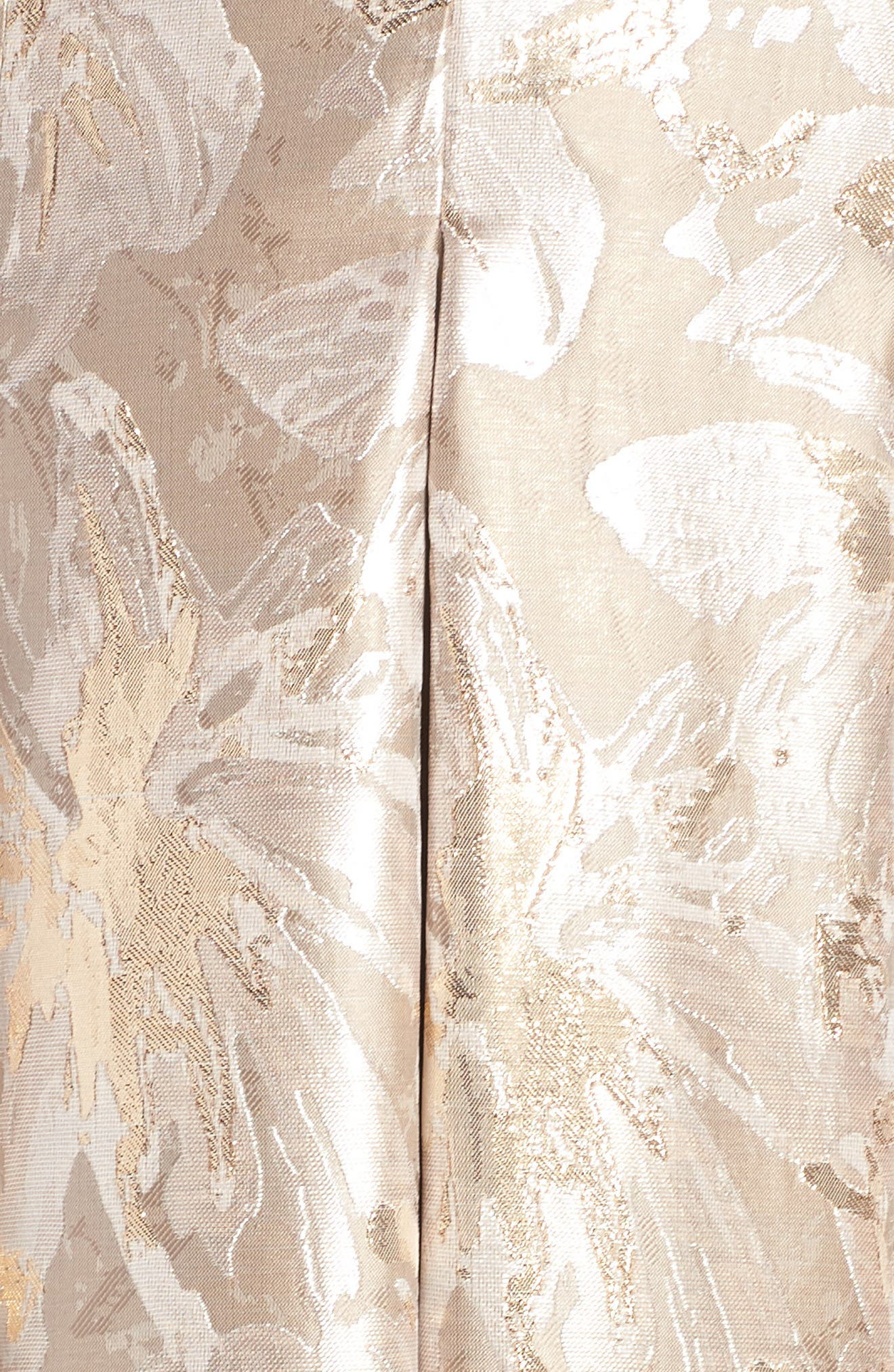 Bejeweled Neckline Strapless Ballgown,                             Alternate thumbnail 6, color,                             Champagne