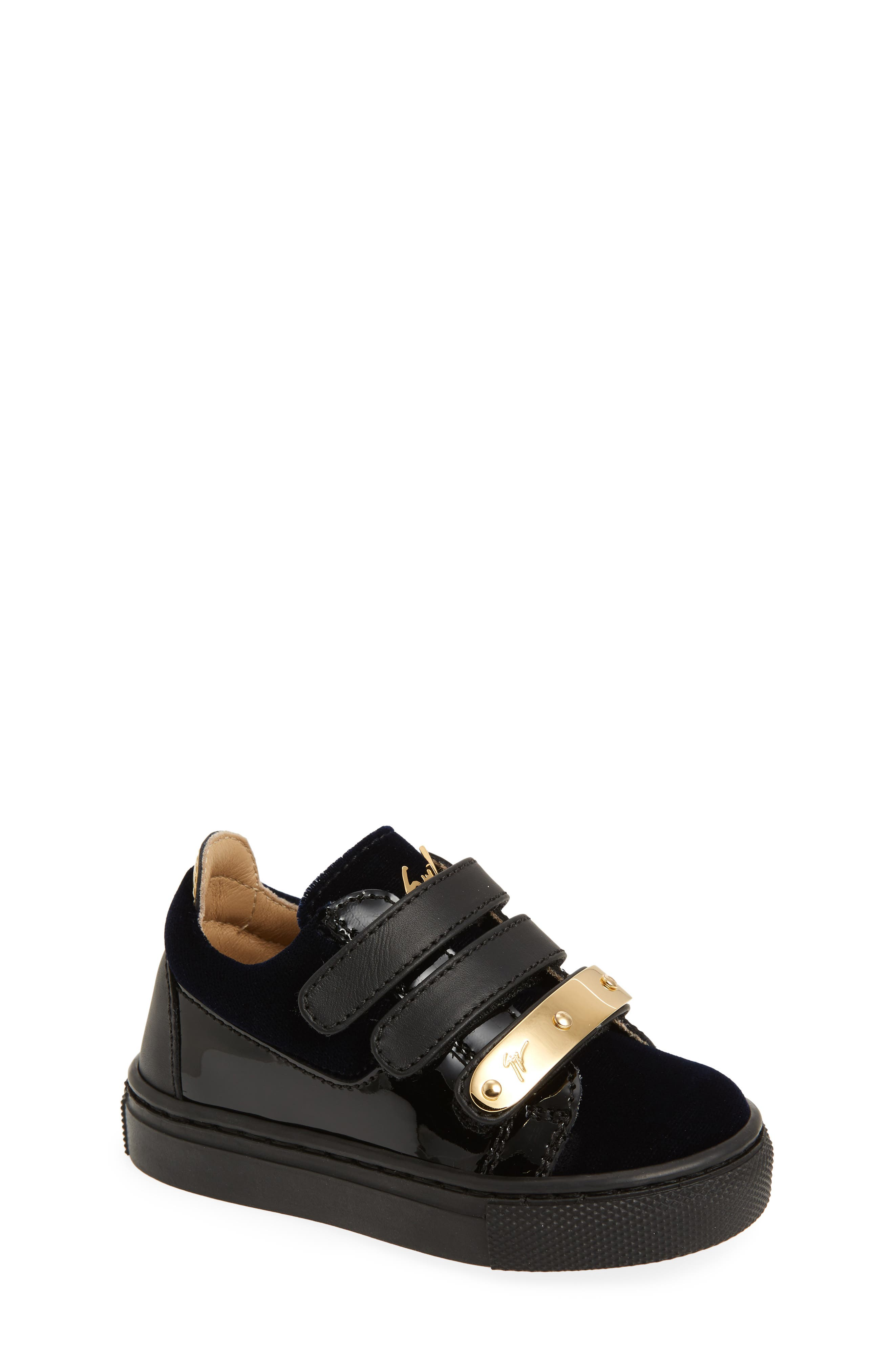 Giuseppe Zanotti Logoball Strap Sneaker (Baby, Walker & Toddler)