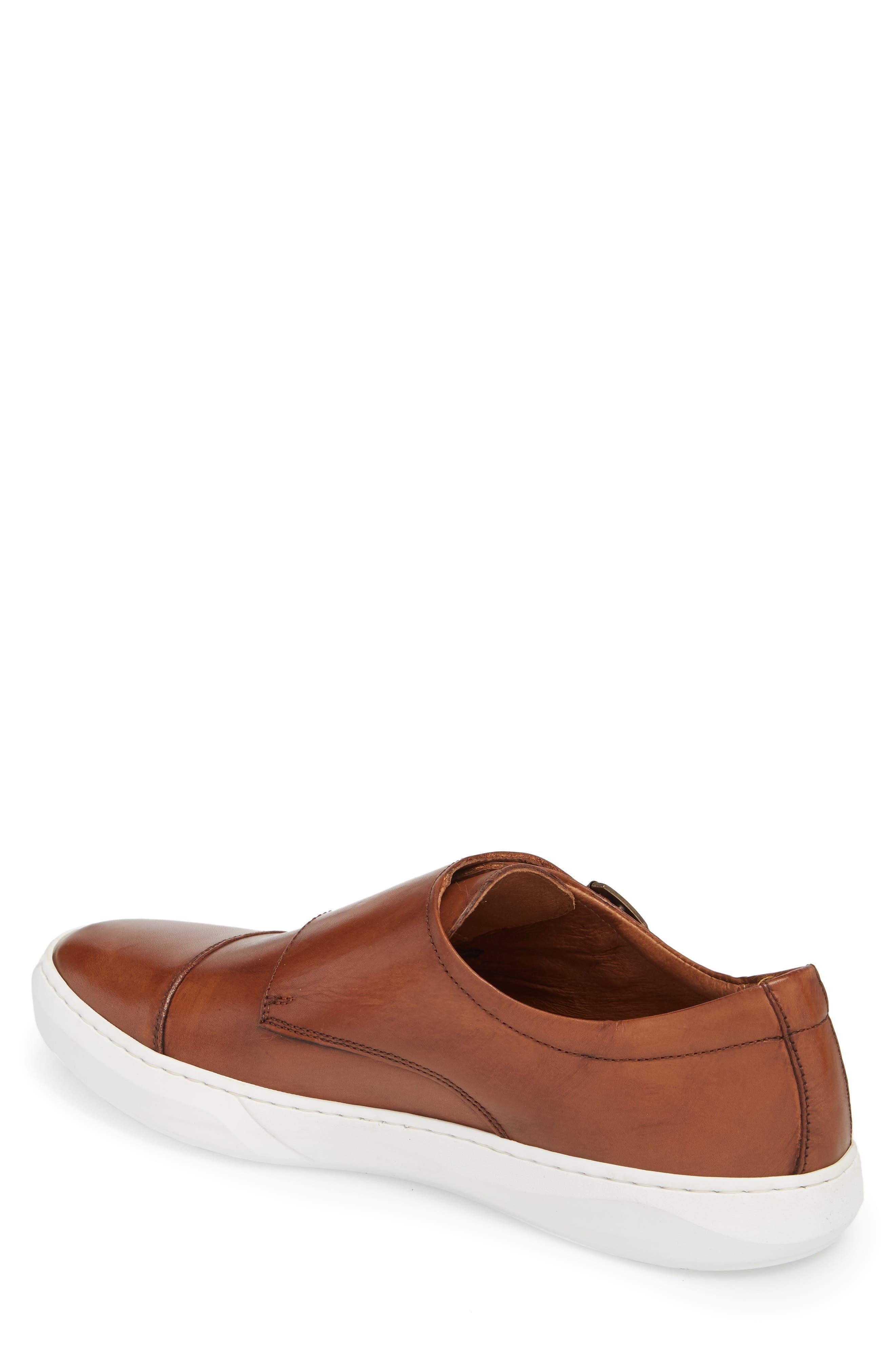 Whyle Double Strap Monk Sneaker,                             Alternate thumbnail 2, color,                             Cognac Leather
