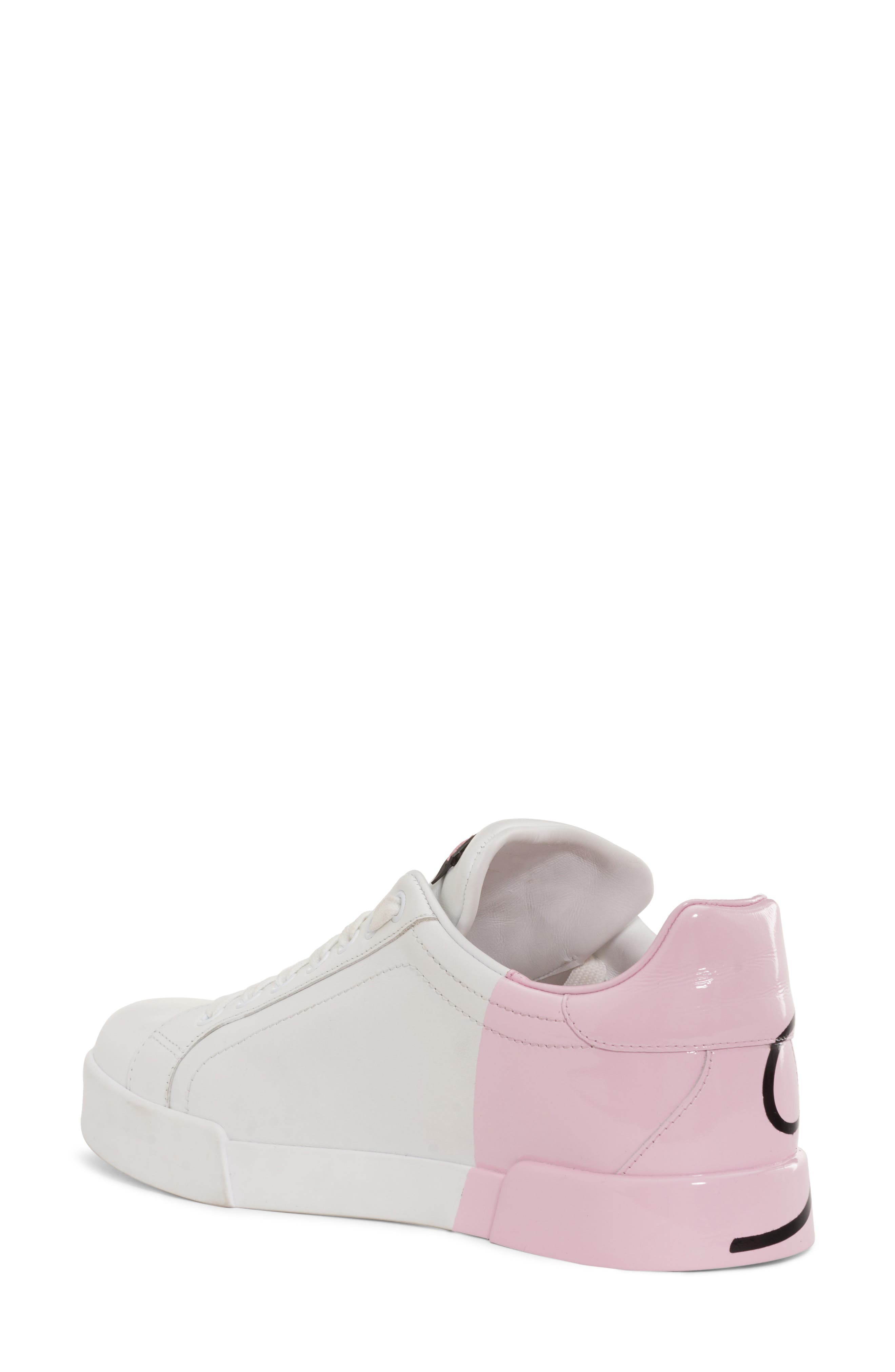 Script Logo Sneaker,                             Alternate thumbnail 2, color,                             Pink/ White