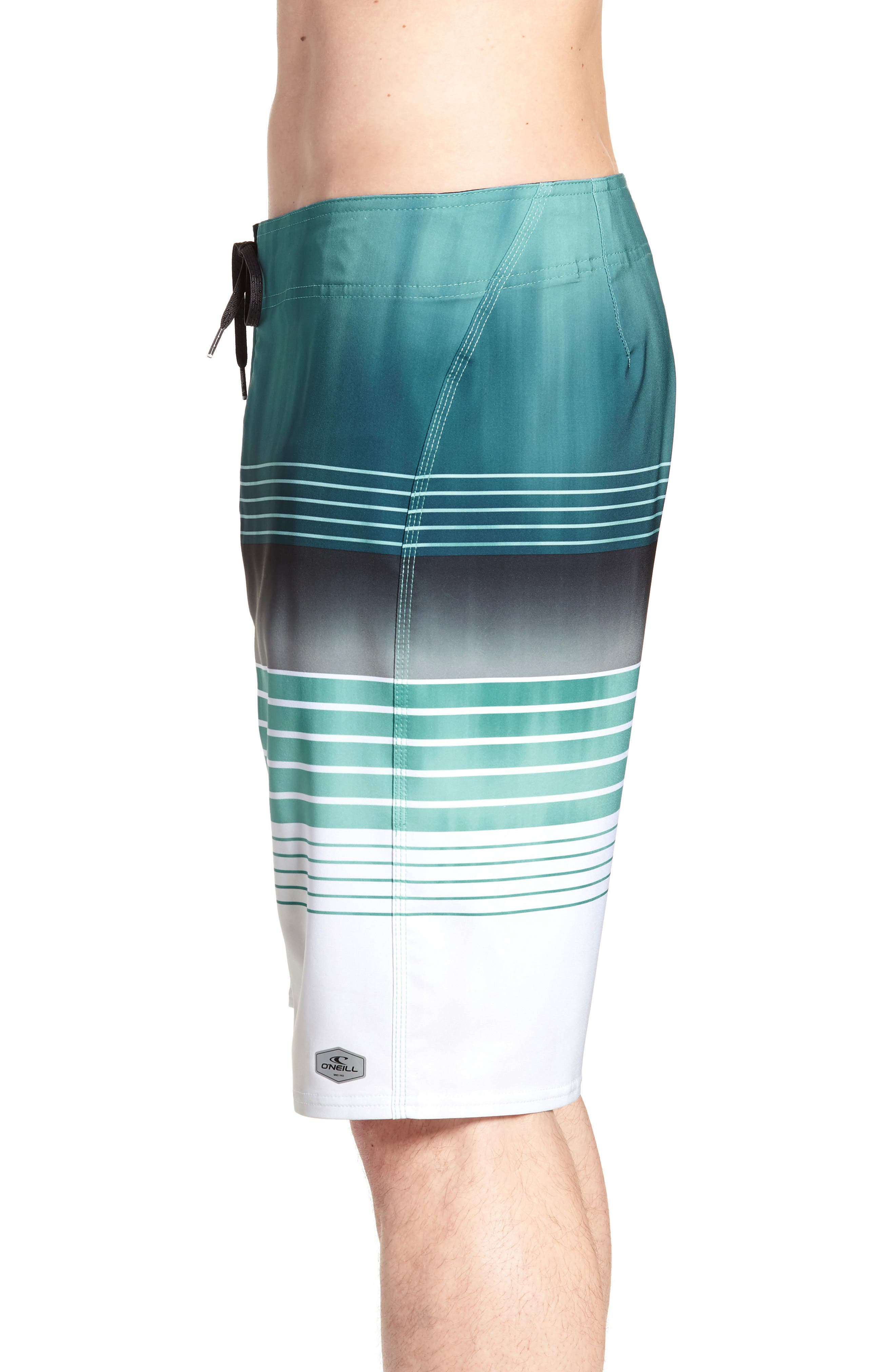 Hyperfreak Heist Board Shorts,                             Alternate thumbnail 3, color,                             Turquoise