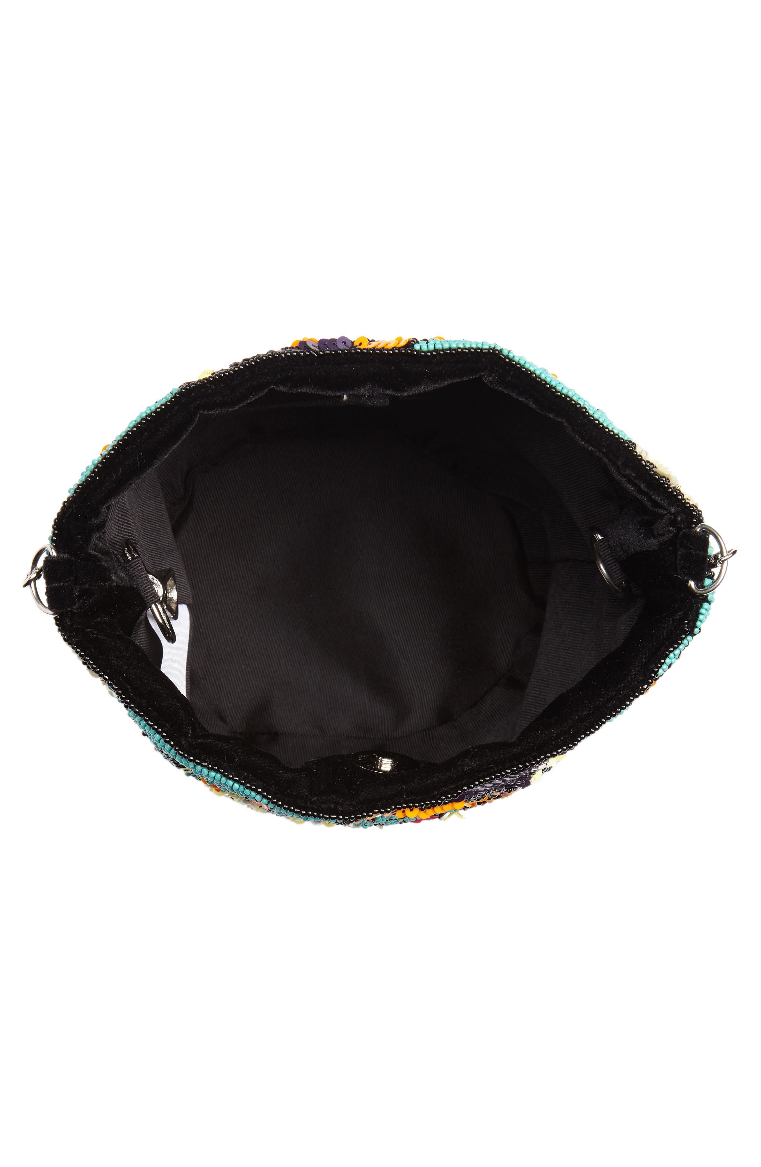 Kipp Beaded Shoulder Bag,                             Alternate thumbnail 4, color,                             Black Multi